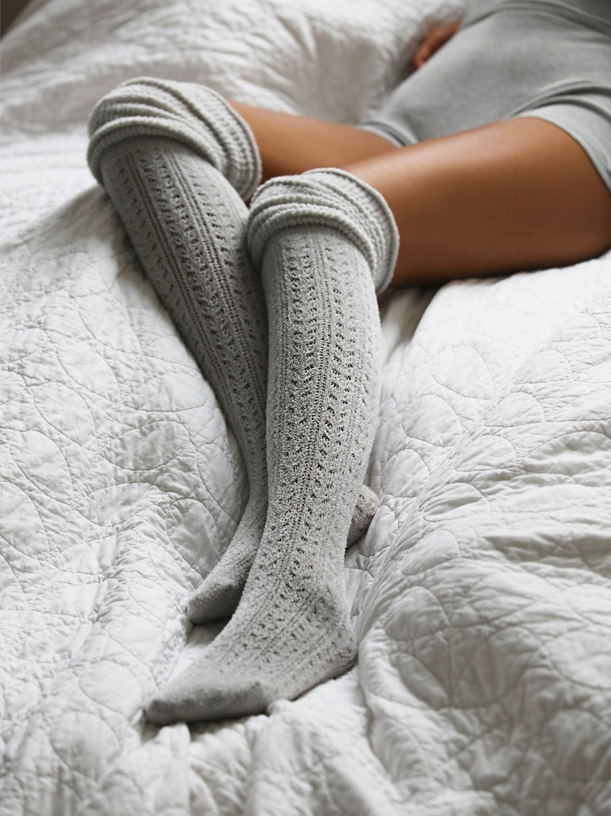 Blanket Pointelle Sock