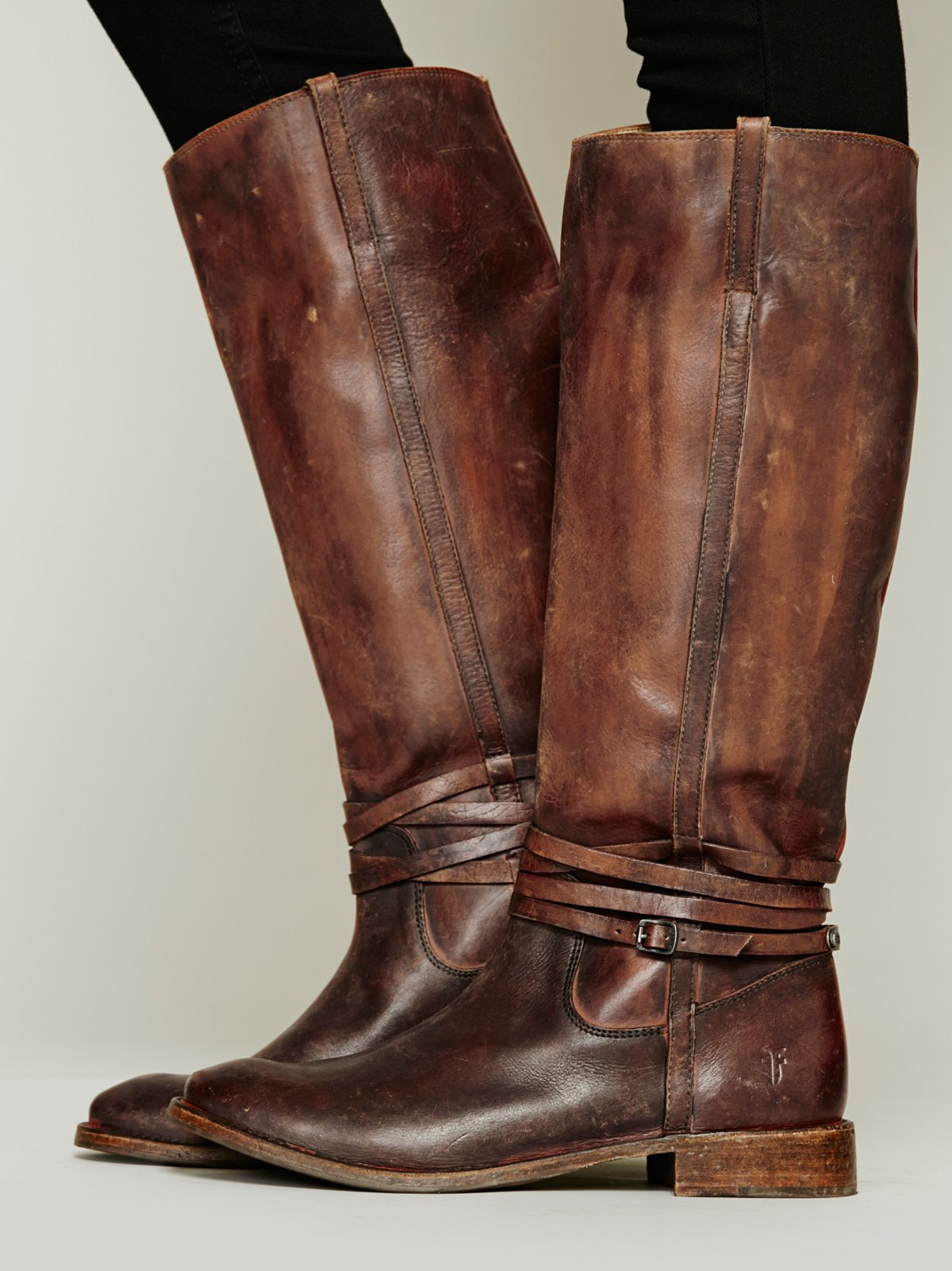 500 Miles Distressed Tall Boot