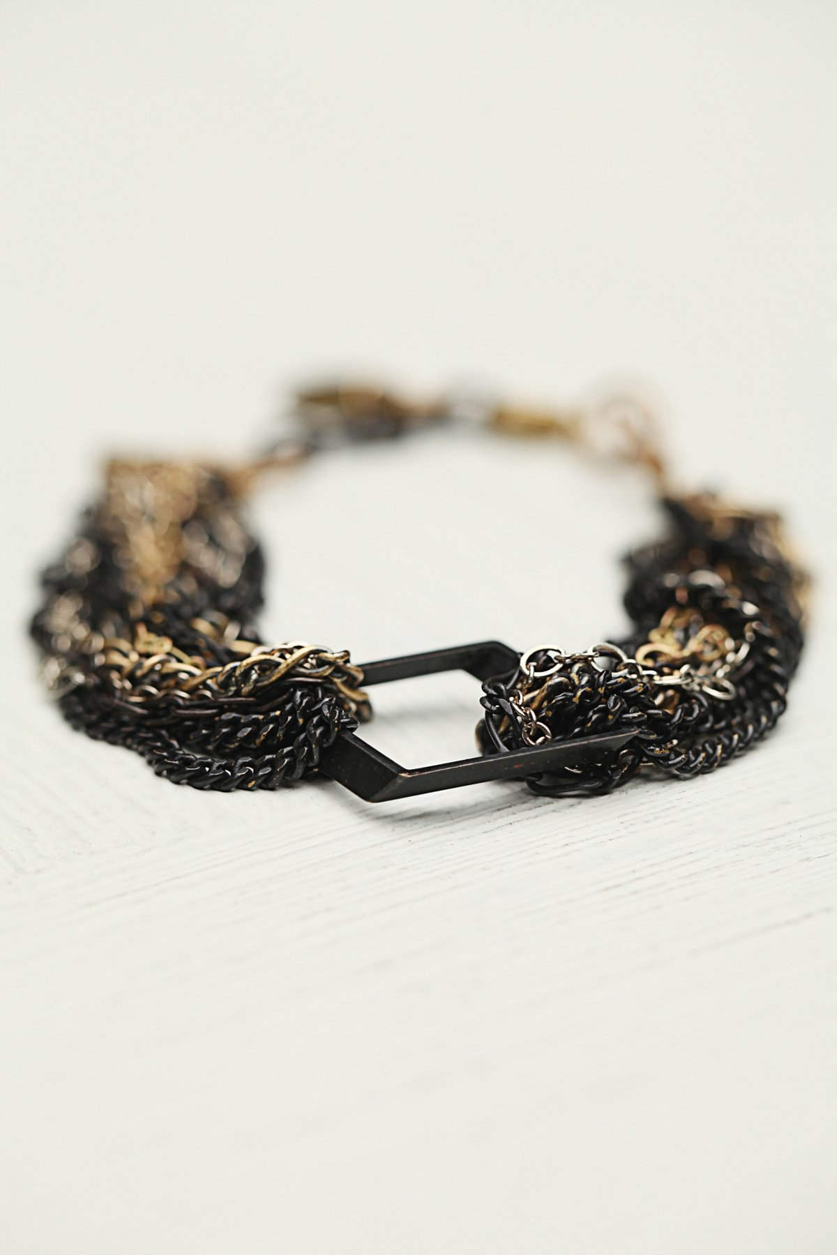 Chained Geo Bracelet