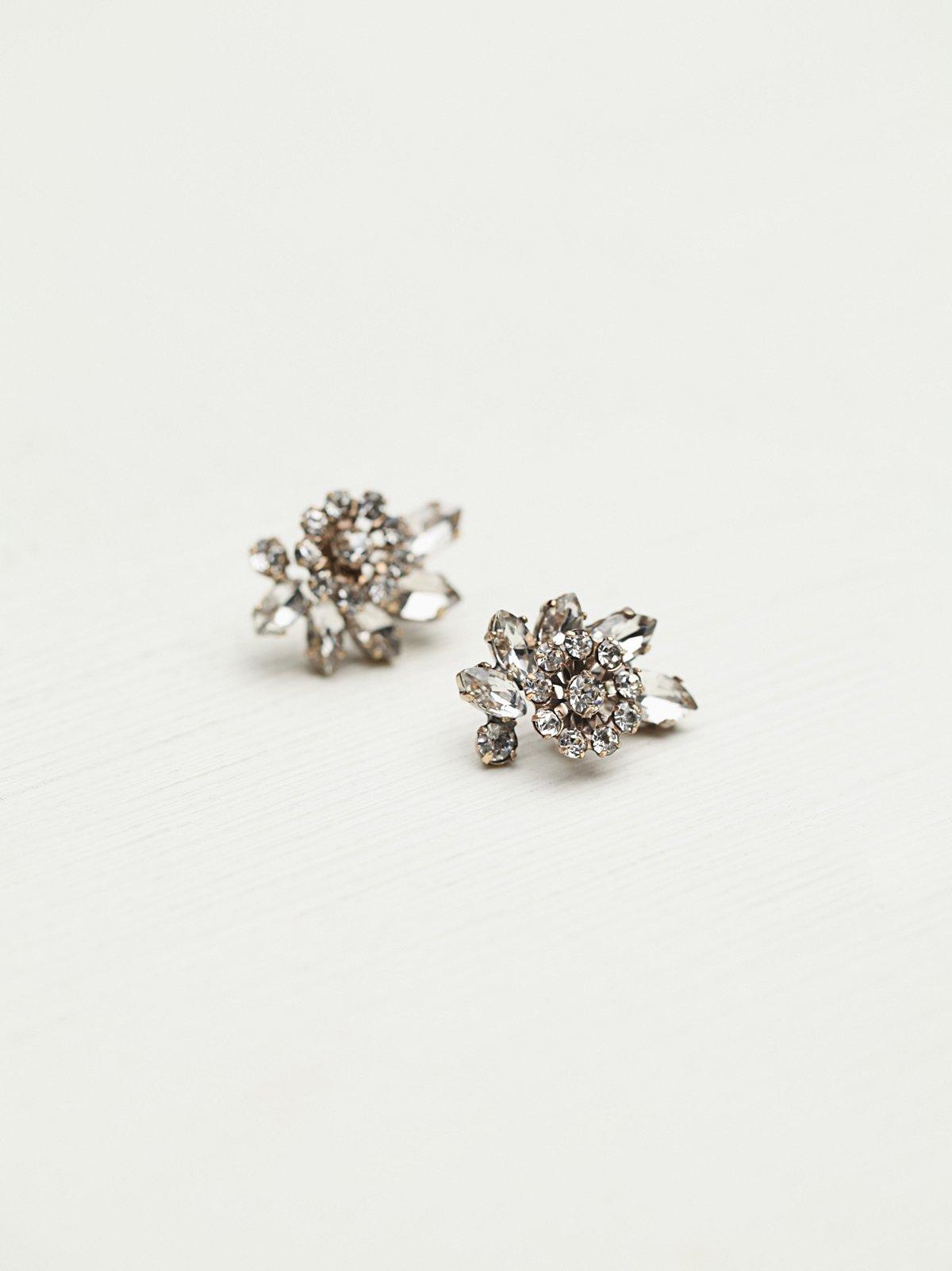 Crystal Cluster Stud Earring