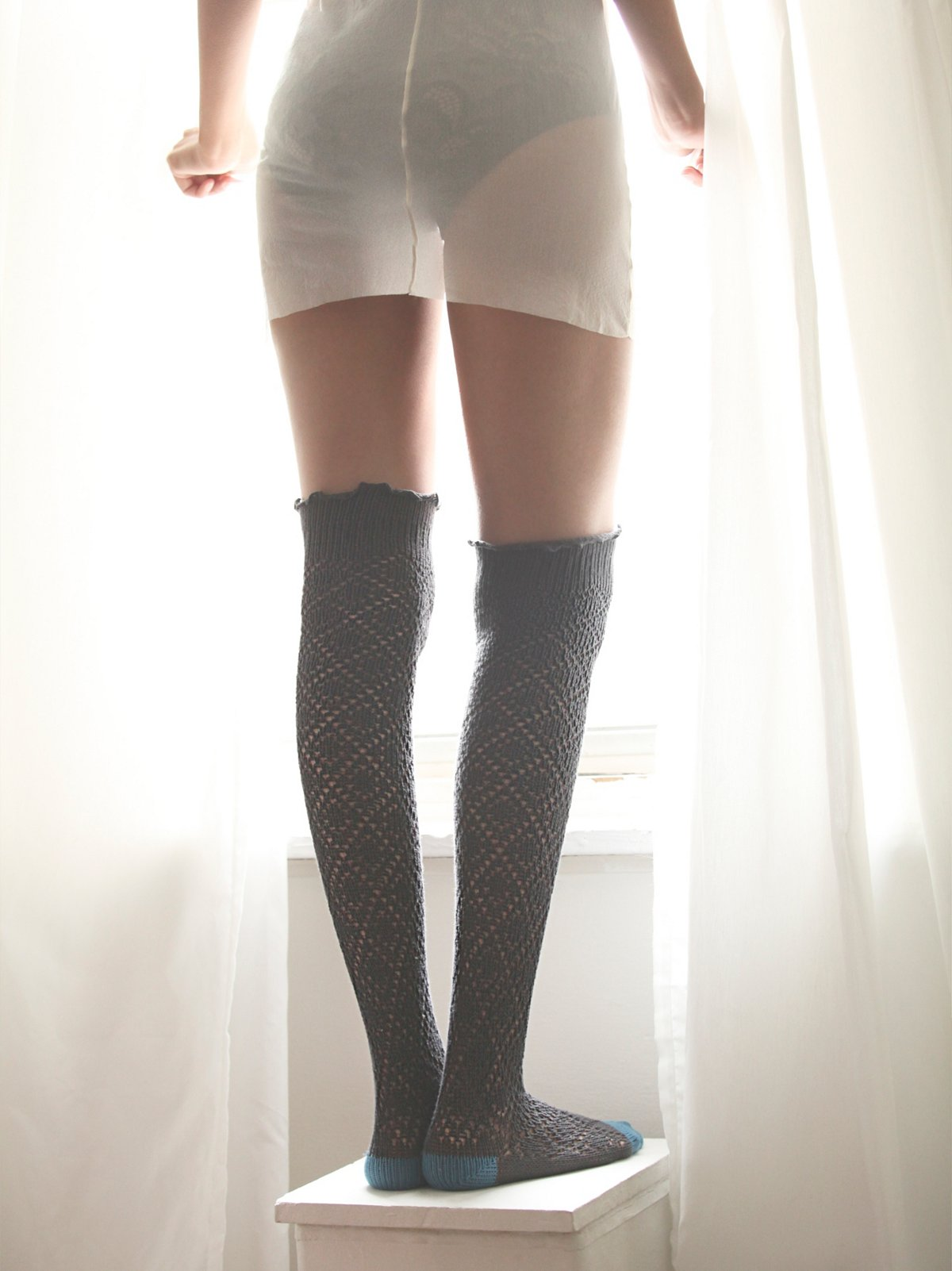 Pointelle Tall Sock