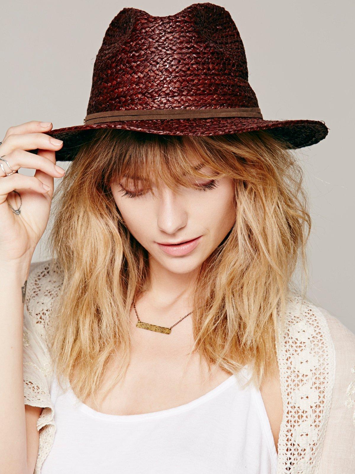 Organic Raffia Wide Brim Hat