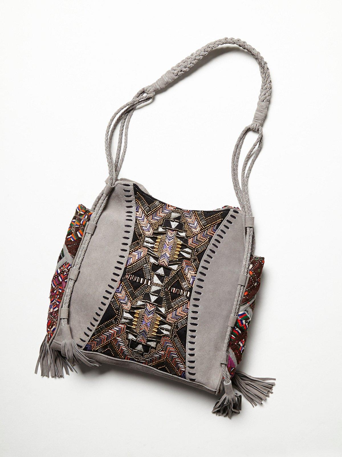 织锦与流苏手提包