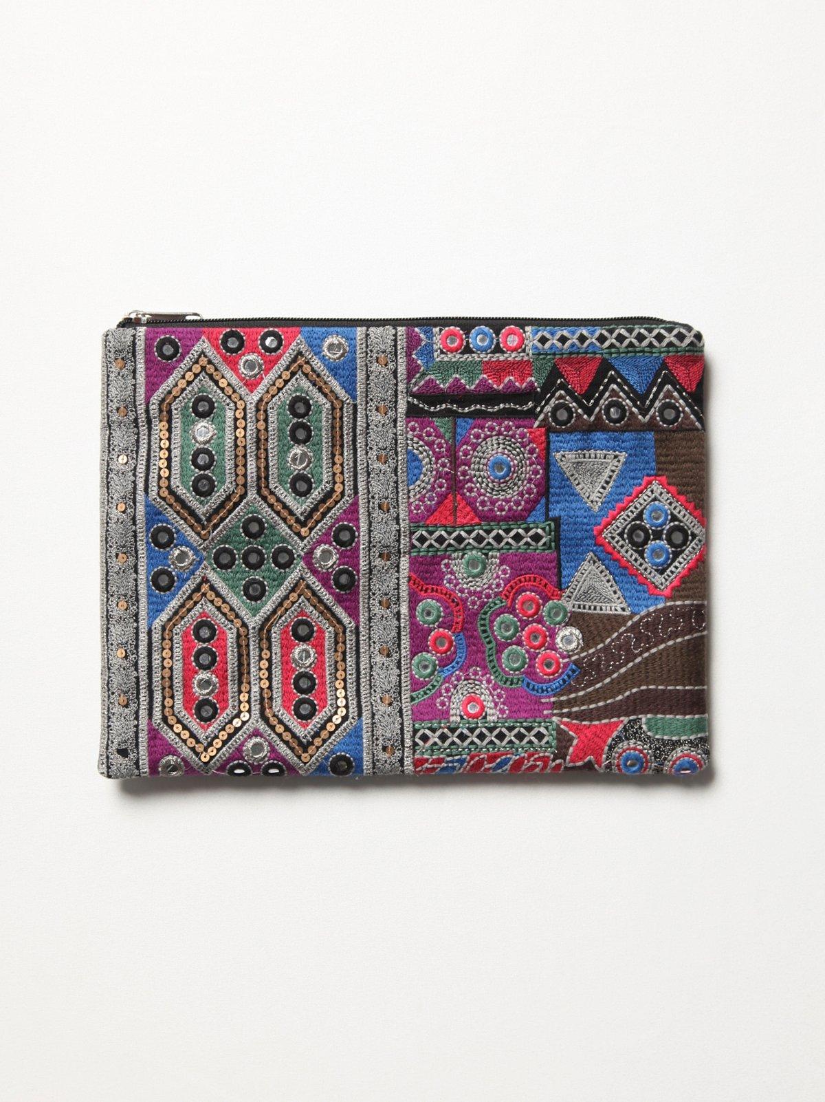 Neli Tapestry Clutch
