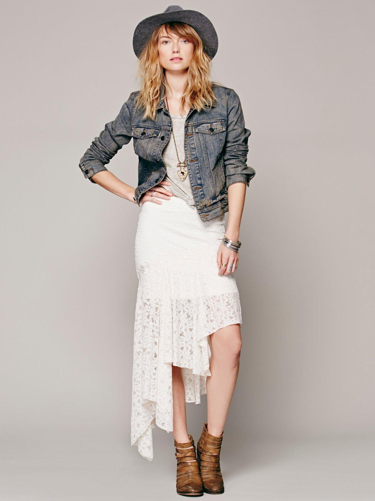 FP X Annabelle Lace Skirt