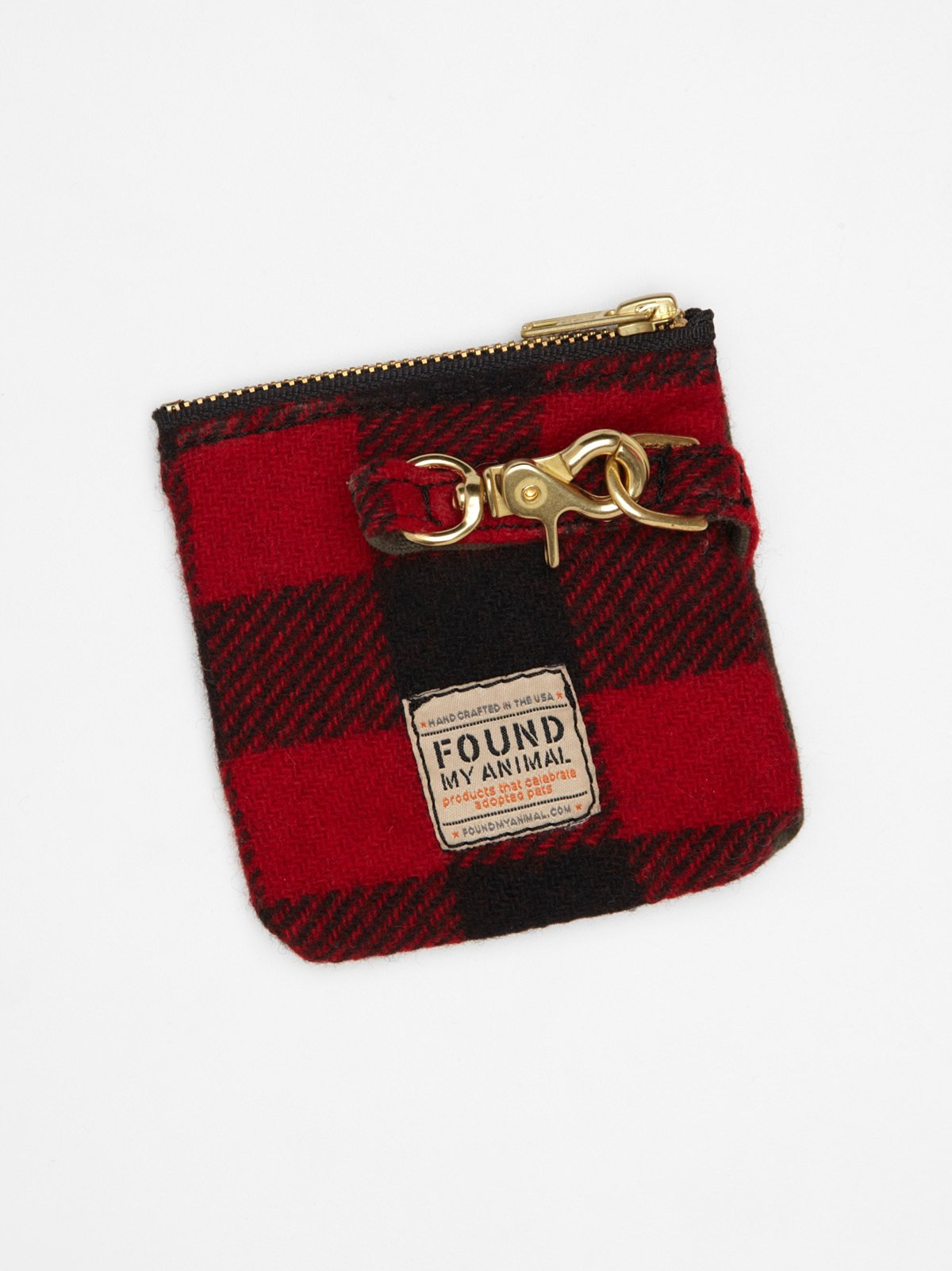 Buffalo Plaid Canvas Pouch