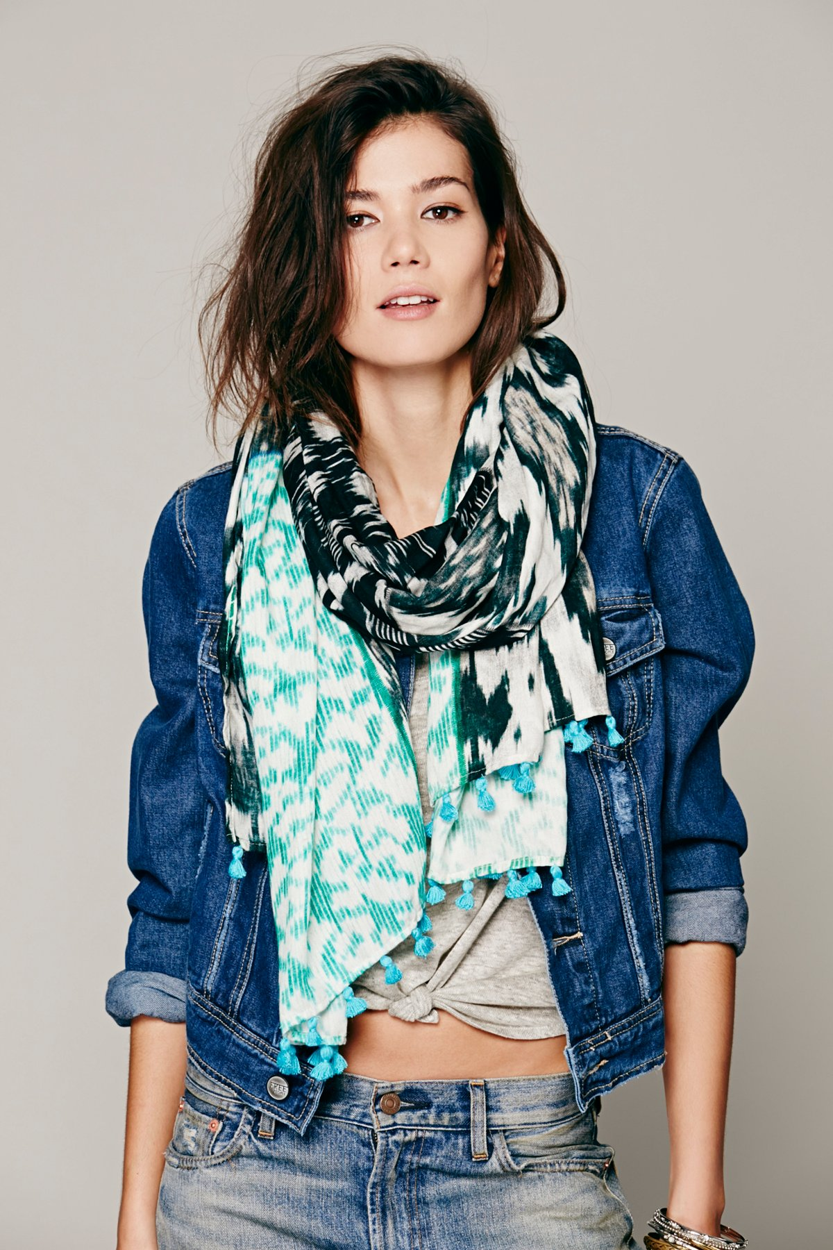 Patchwork Ikat Scarf