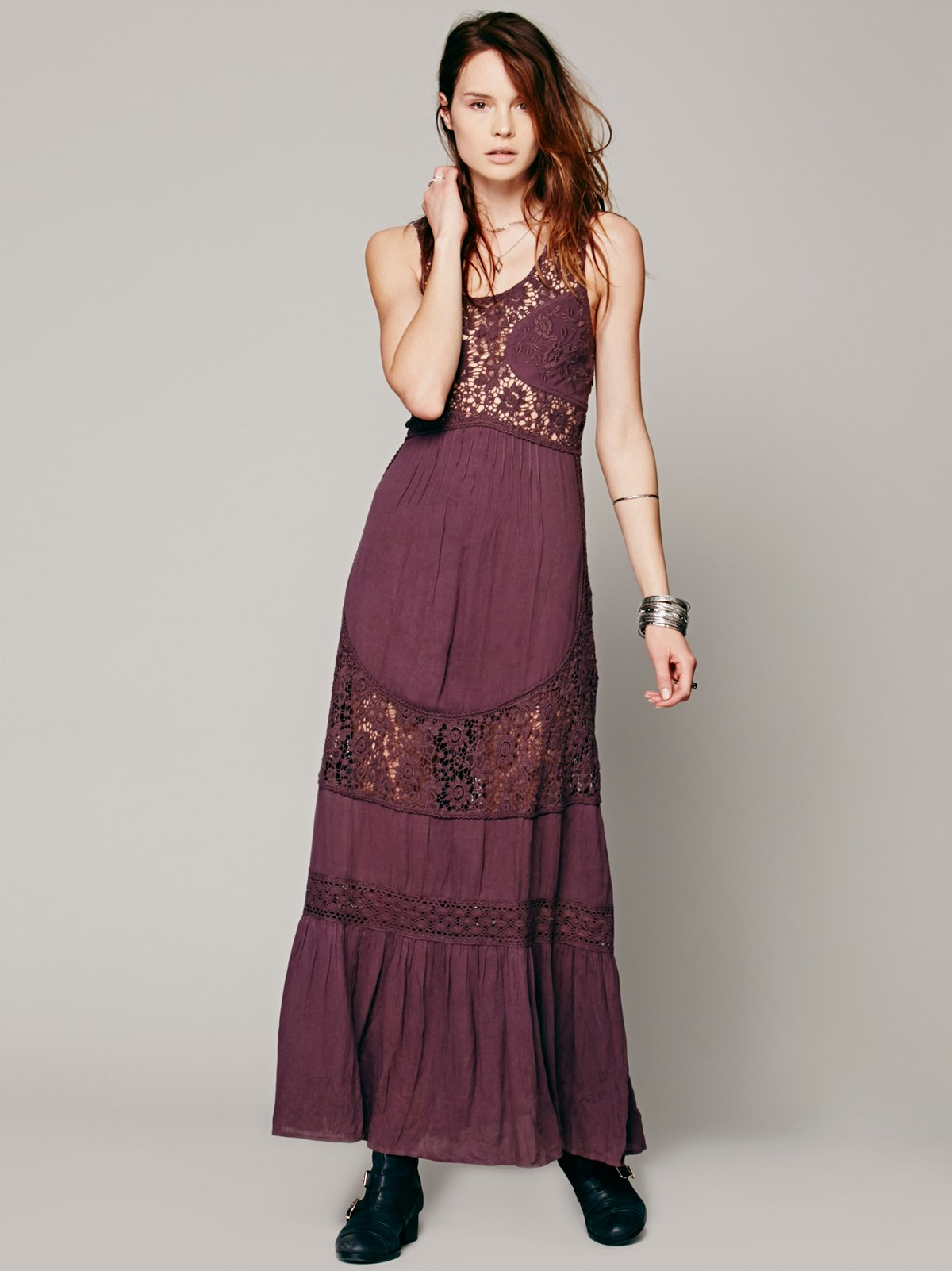 Daydream Lace Pieced Maxi