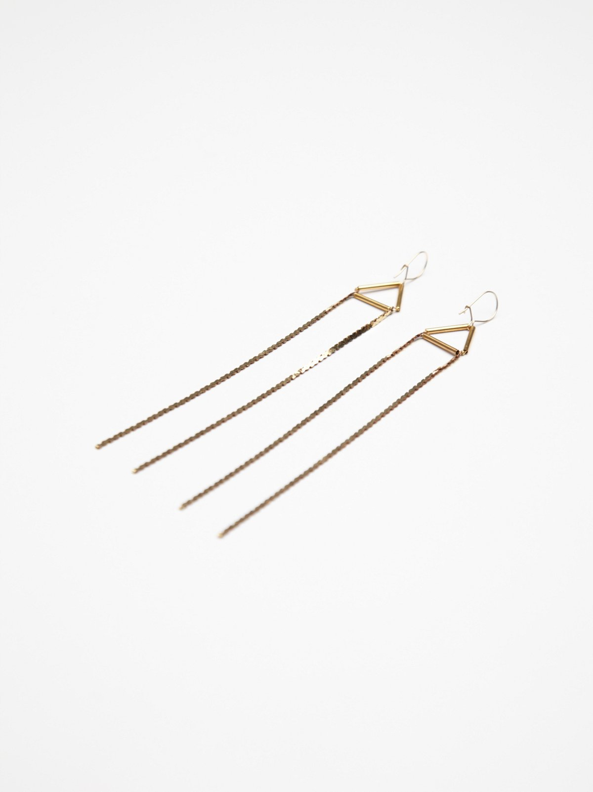 Bar Geo Fringe Earring
