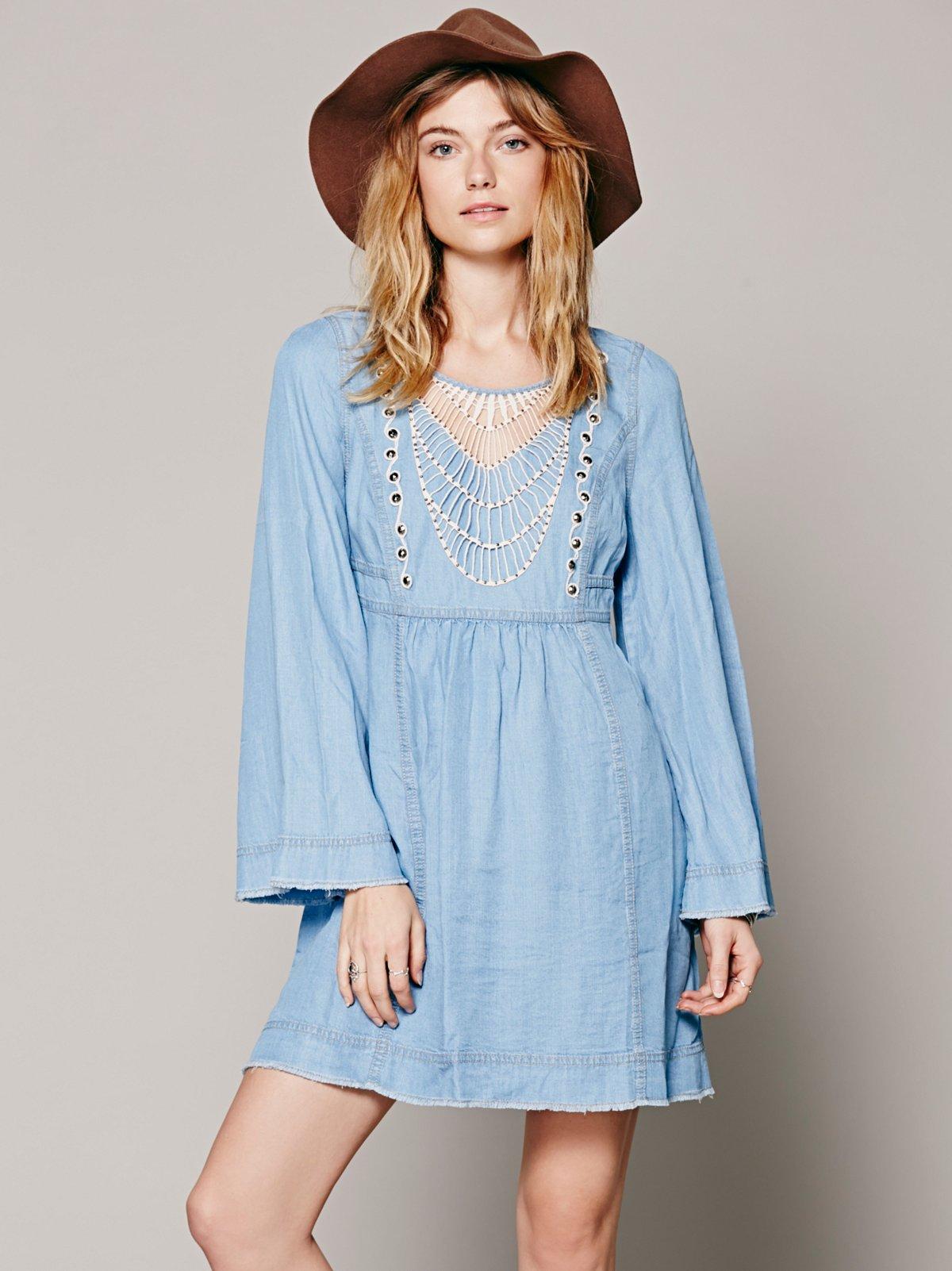 Indigo Tencel Dress