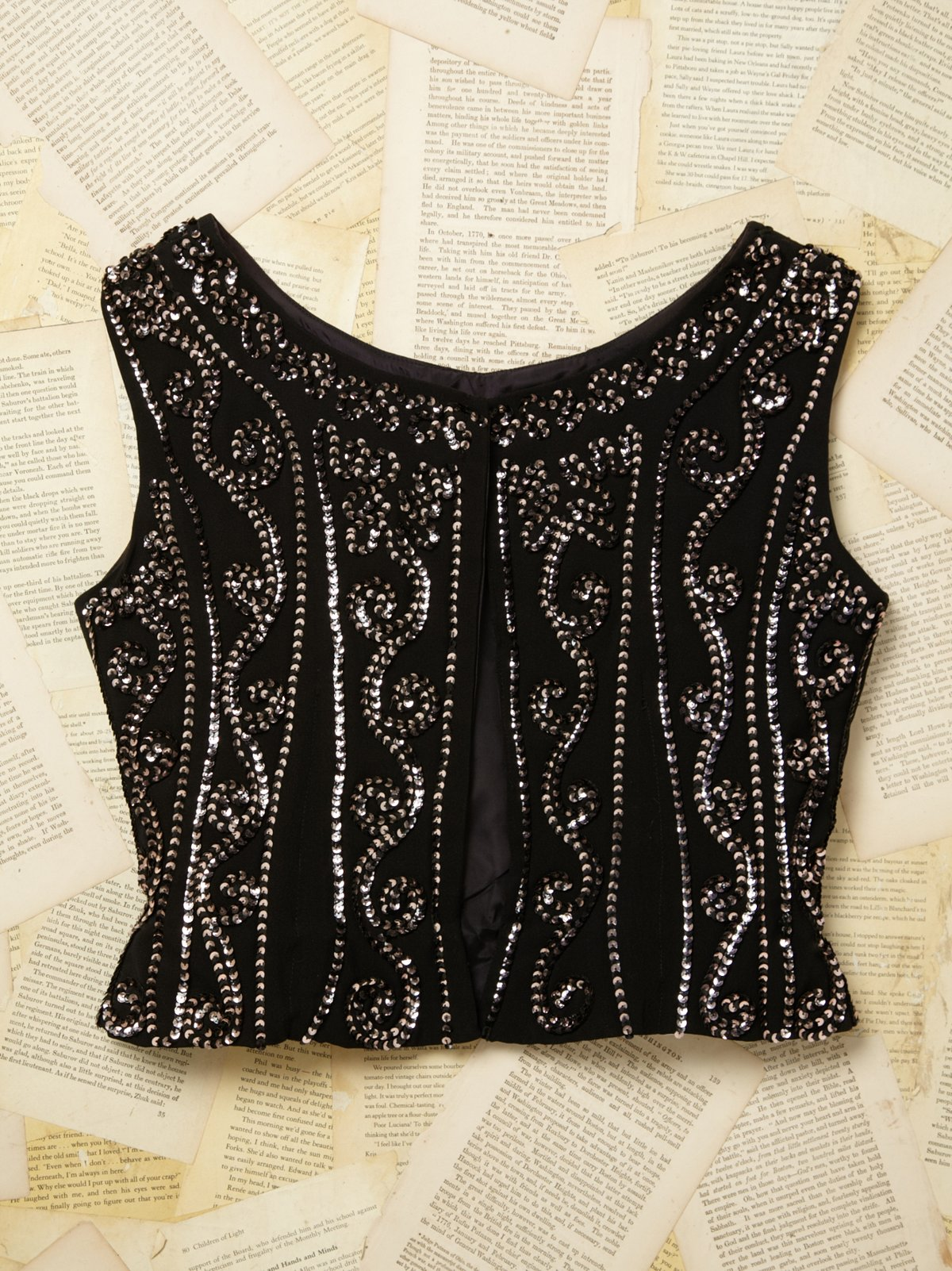 Vintage Sequin Embroidered Vest