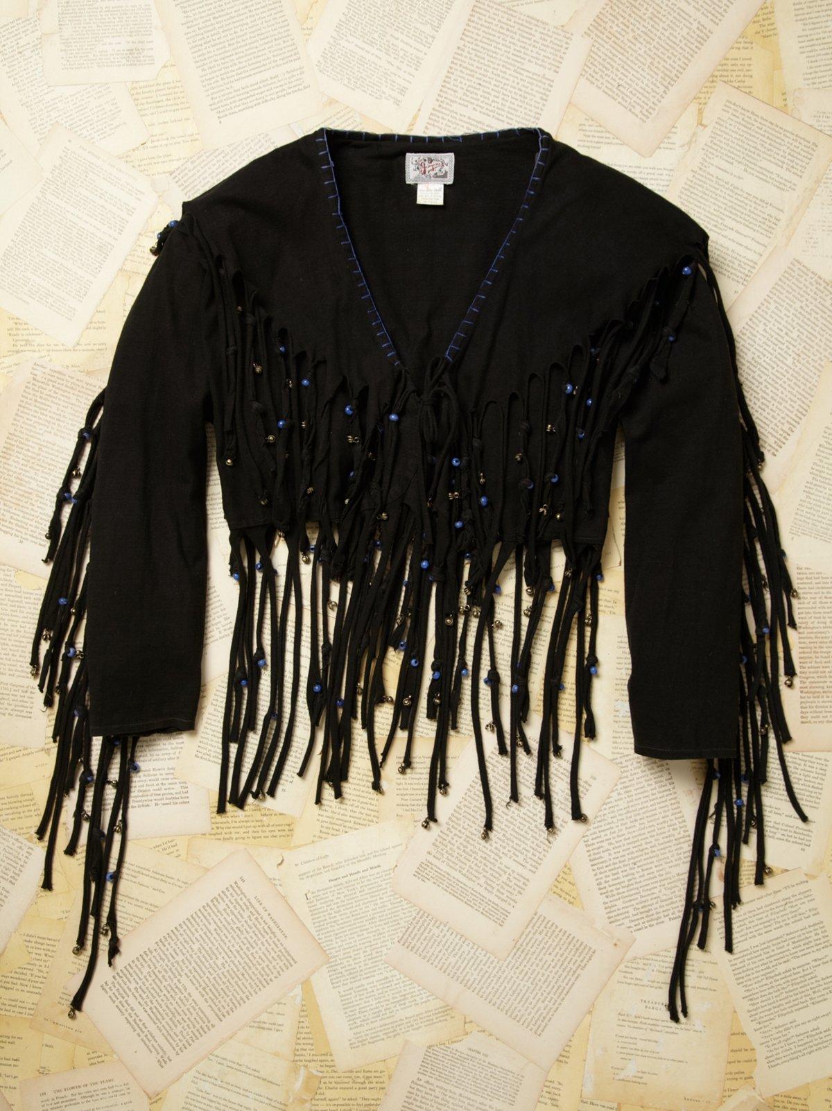 Vintage Fringe Bolero Jacket