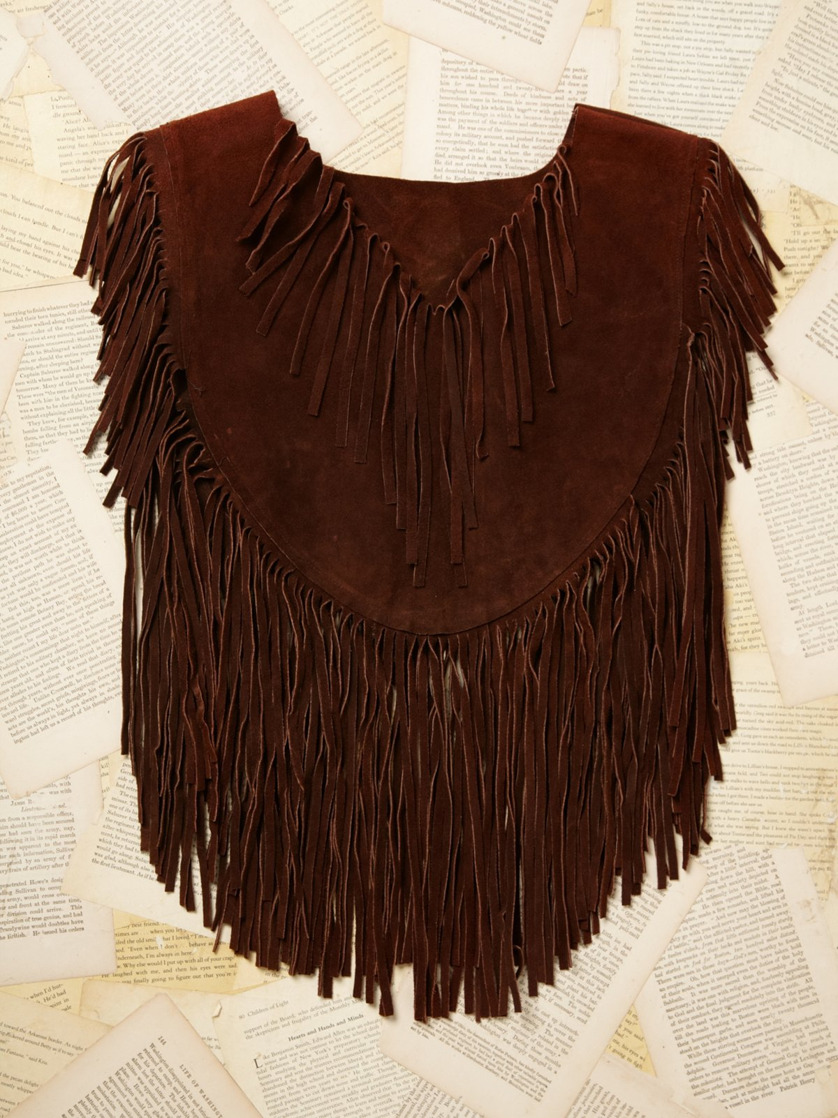 Vintage Roughout Suede Fringe Poncho