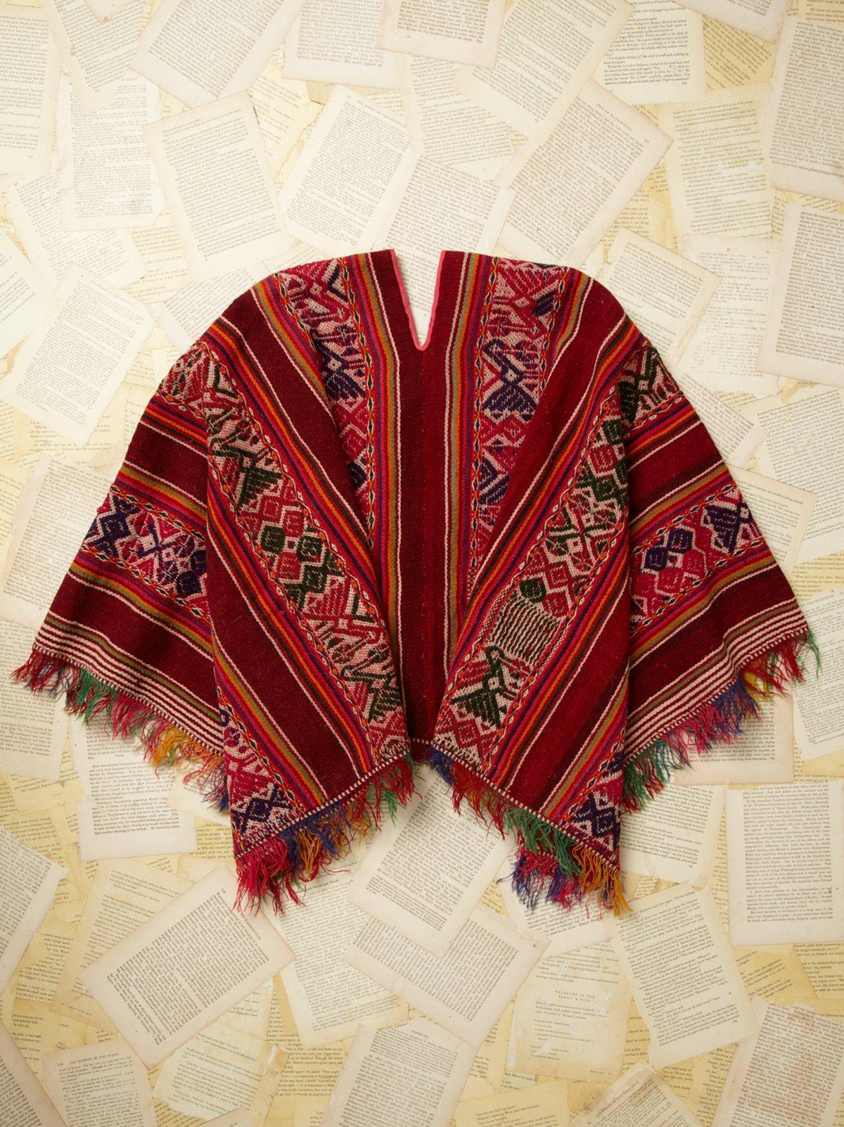 Vintage Woven Poncho