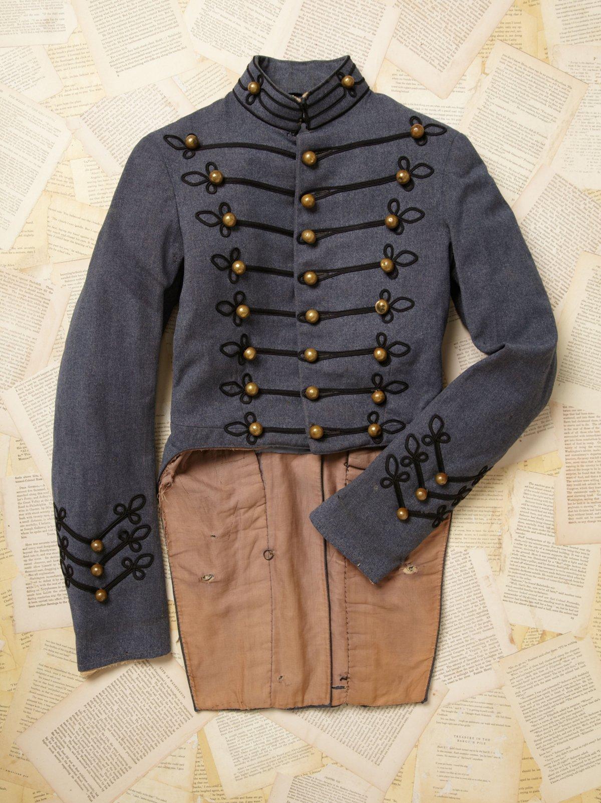 Vintage Cutaway Military Jacket
