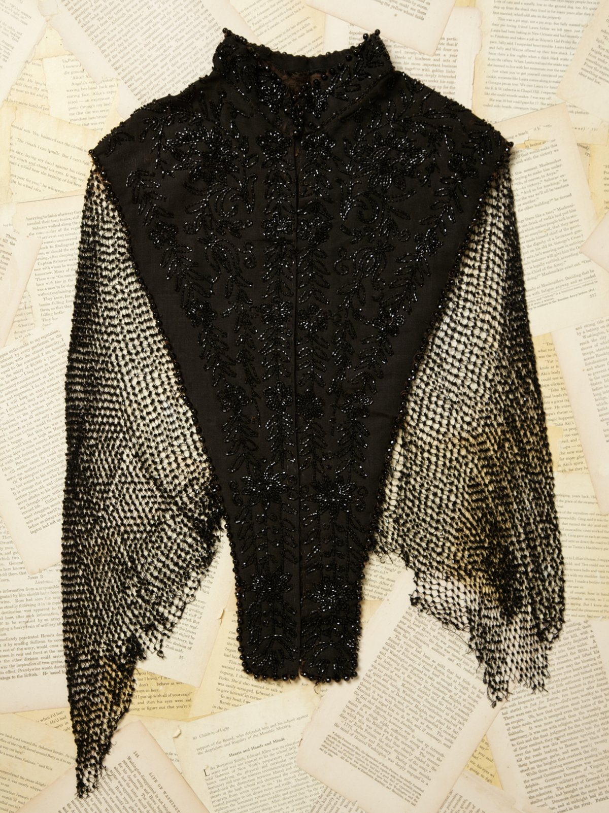 Vintage Beaded Shawl Top