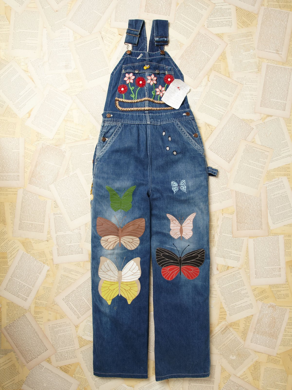 Vintage Embroidered Overalls