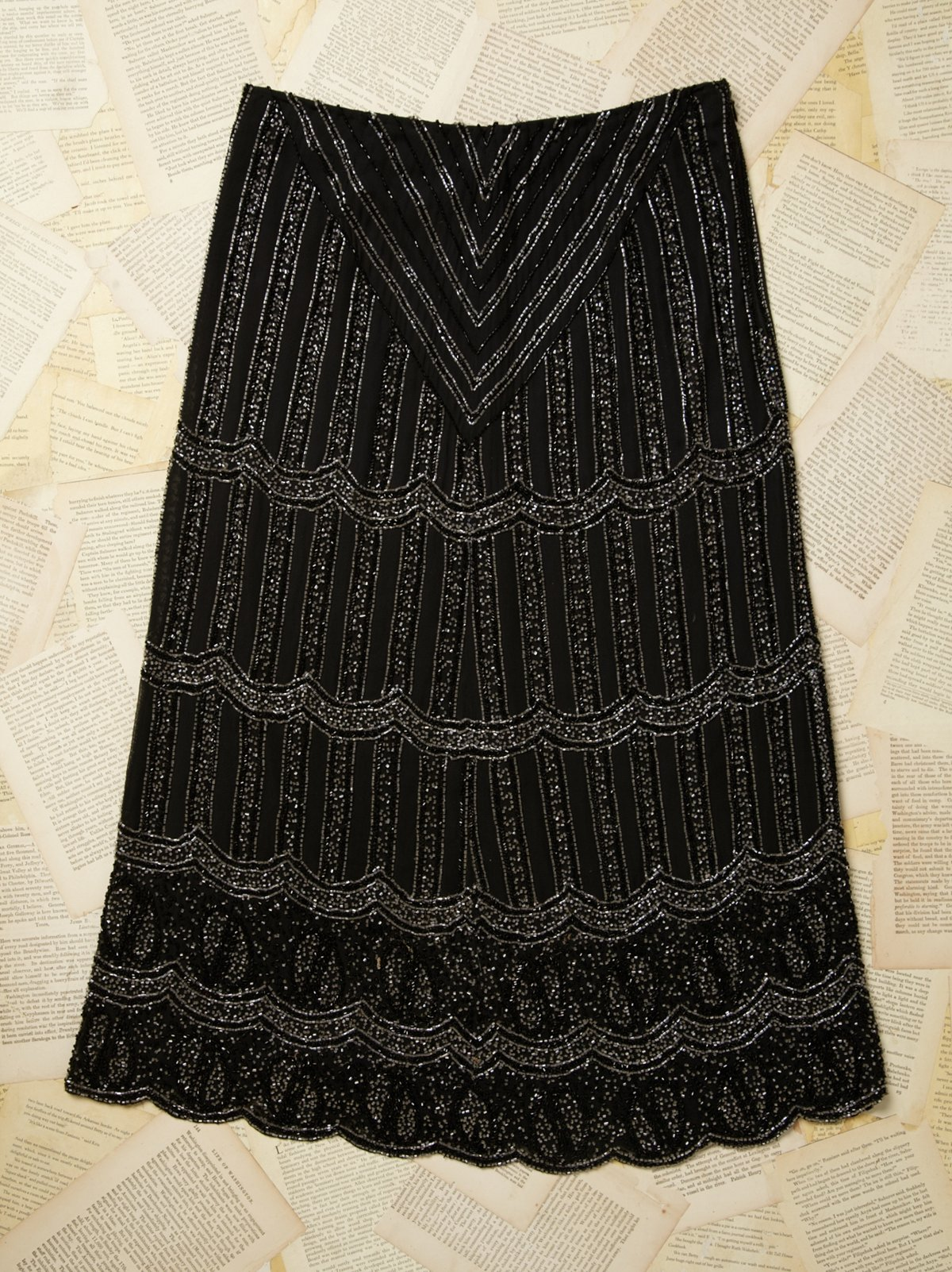 Vintage Long Beaded Skirt