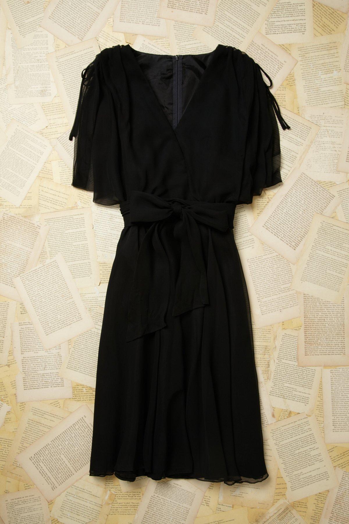 Vintage Lace Shoulder Dress