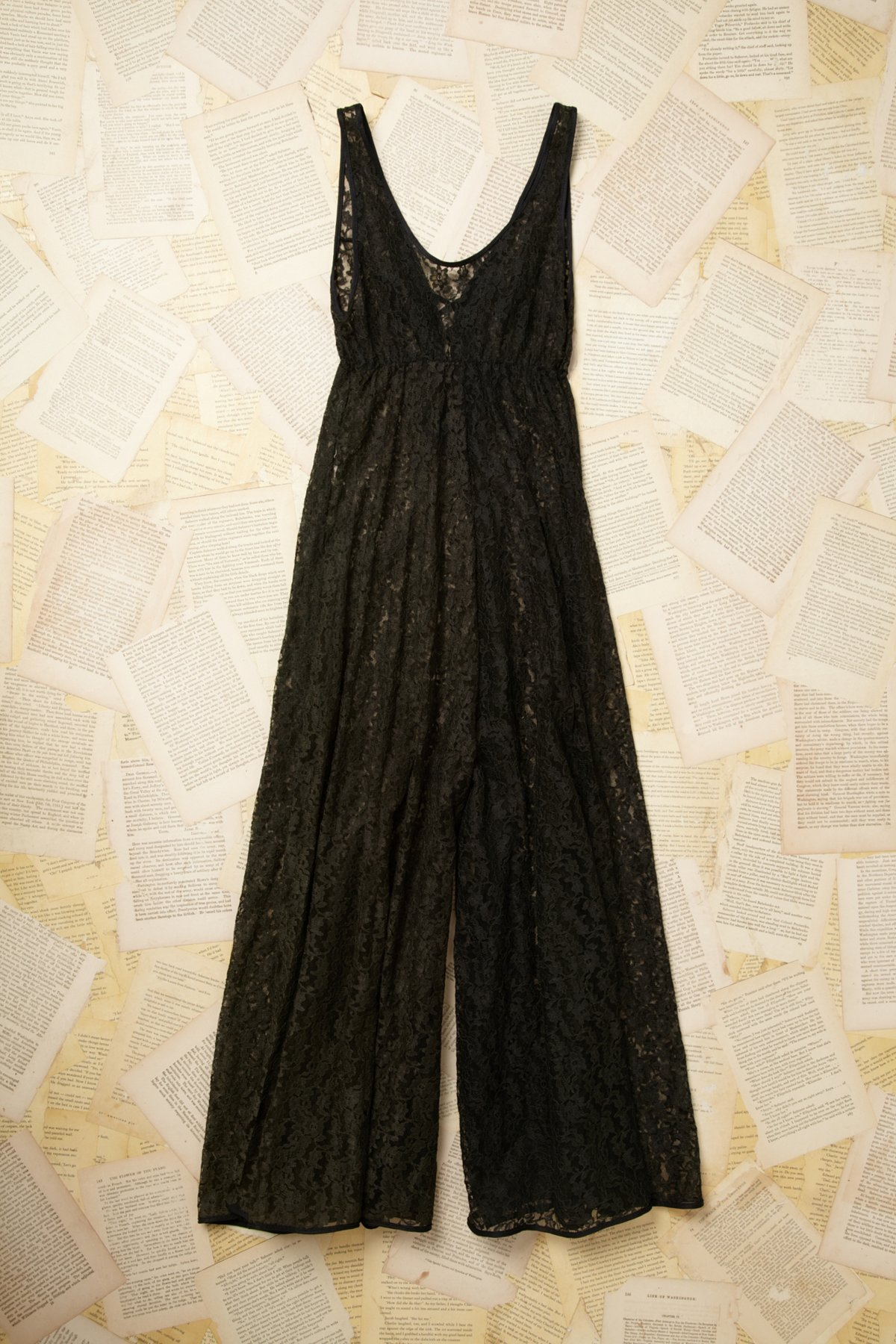 Vintage Lace Long Legged Romper