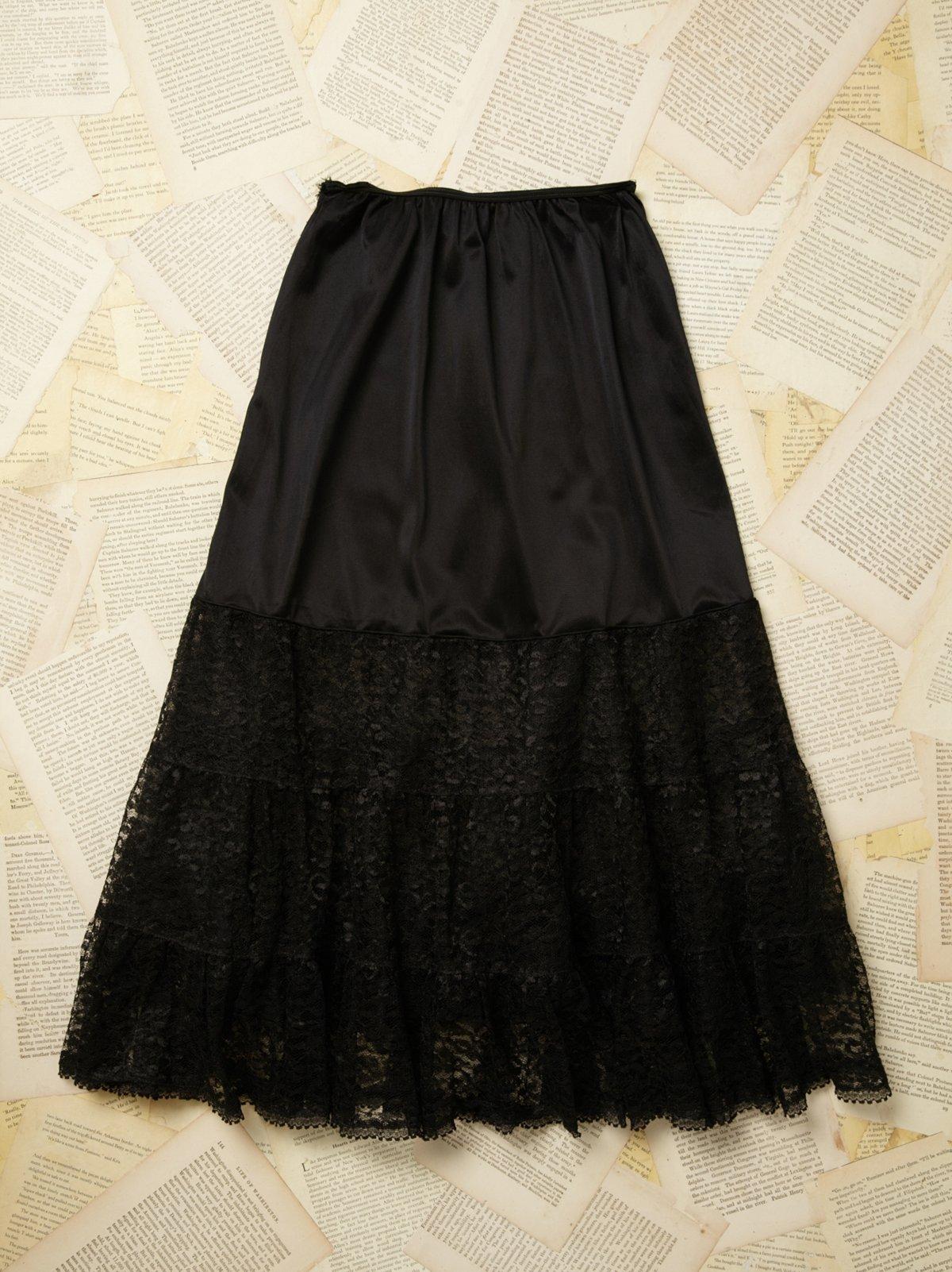 Vintage 1950s Lace Slip