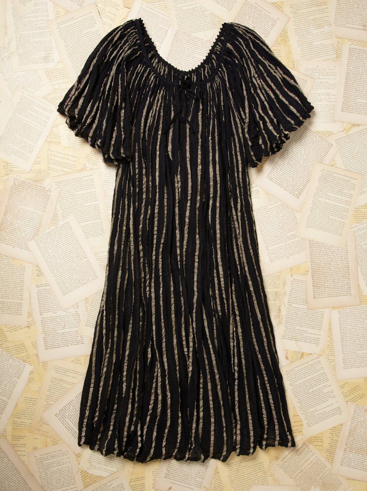 Vintage Gauze Peasant Dress