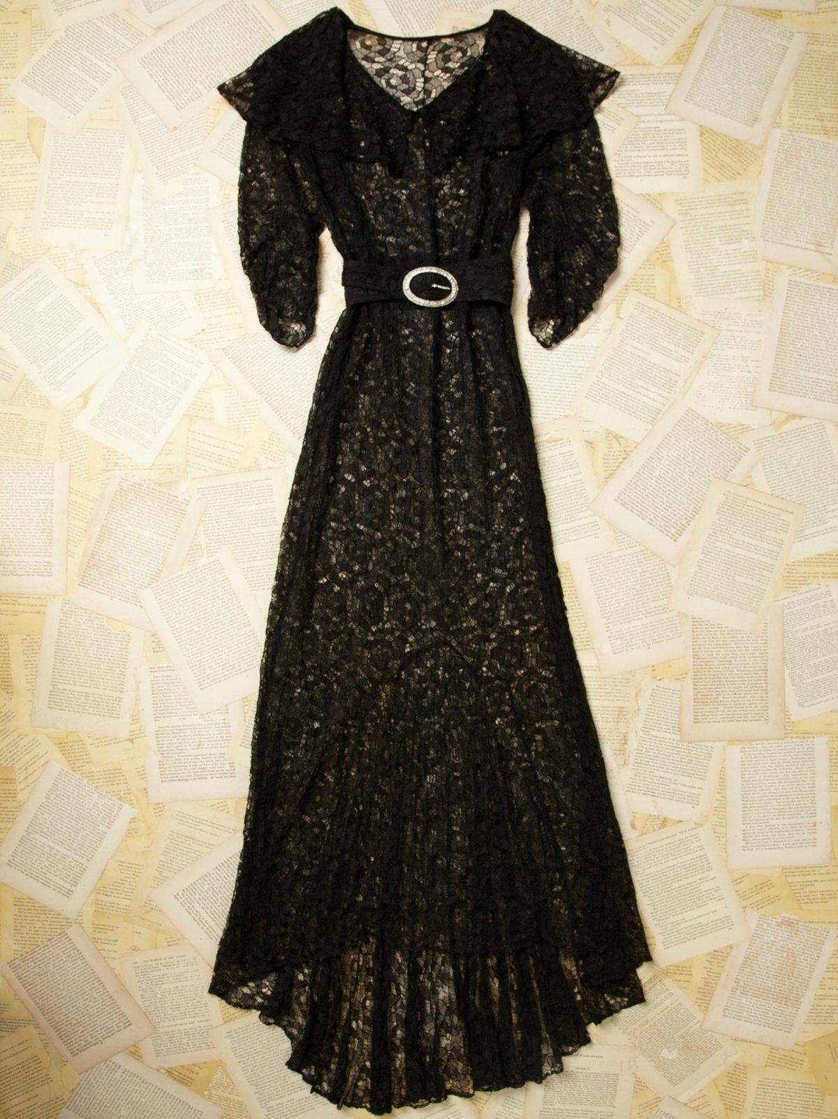 Vintage Sheer Lace Dress