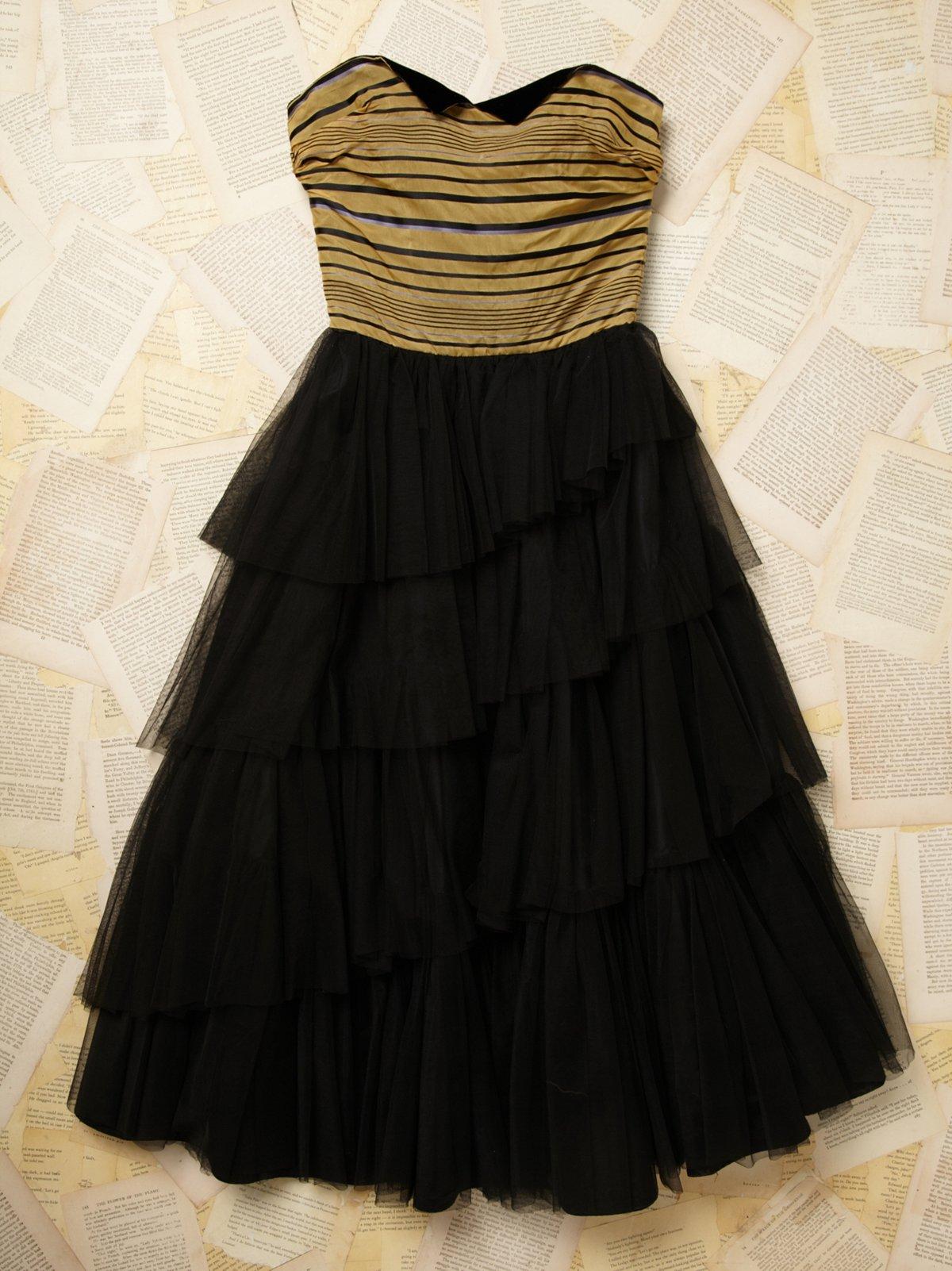 Vintage 1940s Tulle Dress