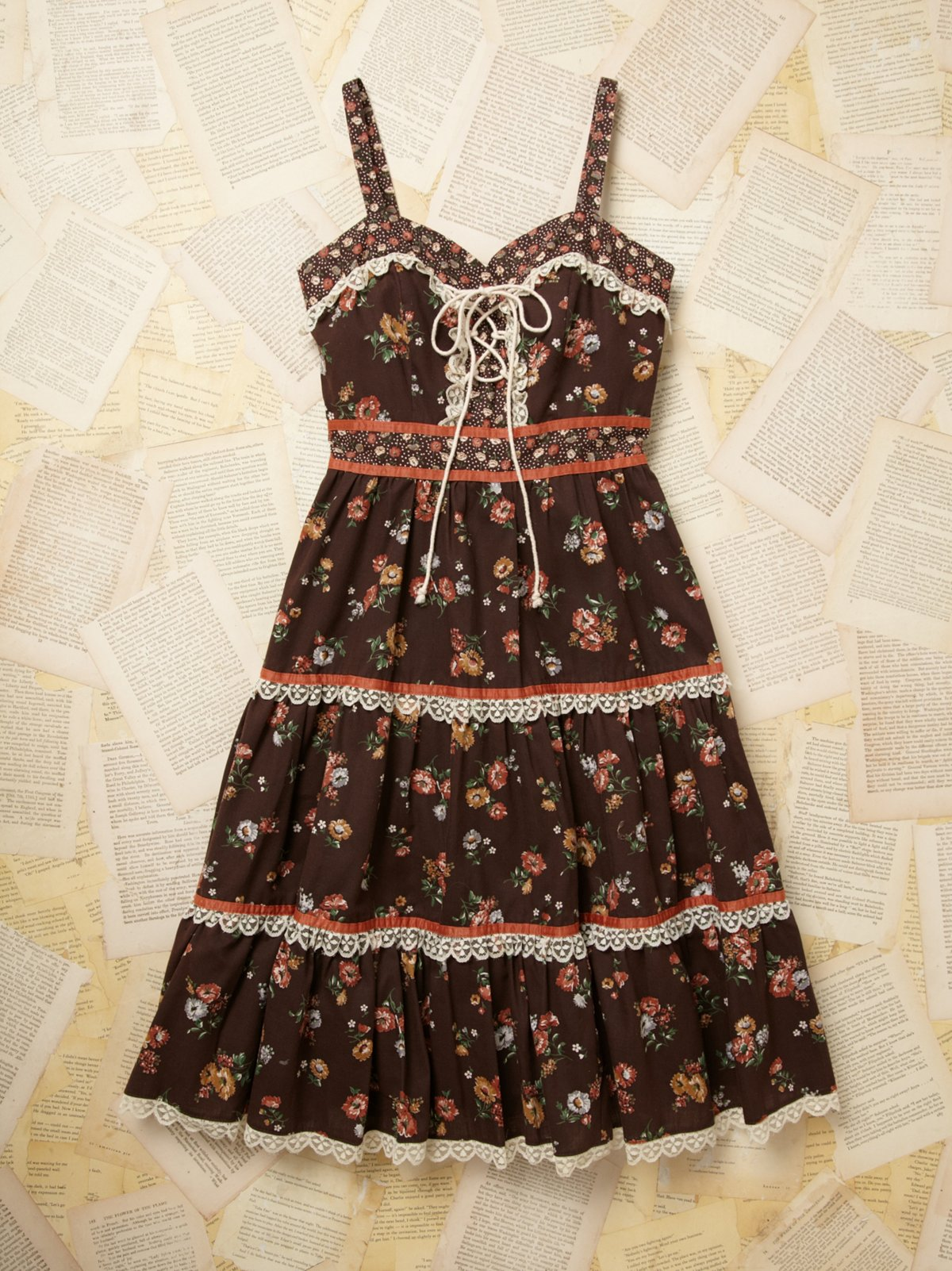 Vintage Printed Prarie Dress