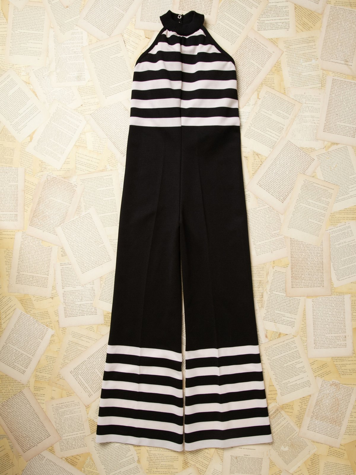 Vintage Striped Jumpsuit