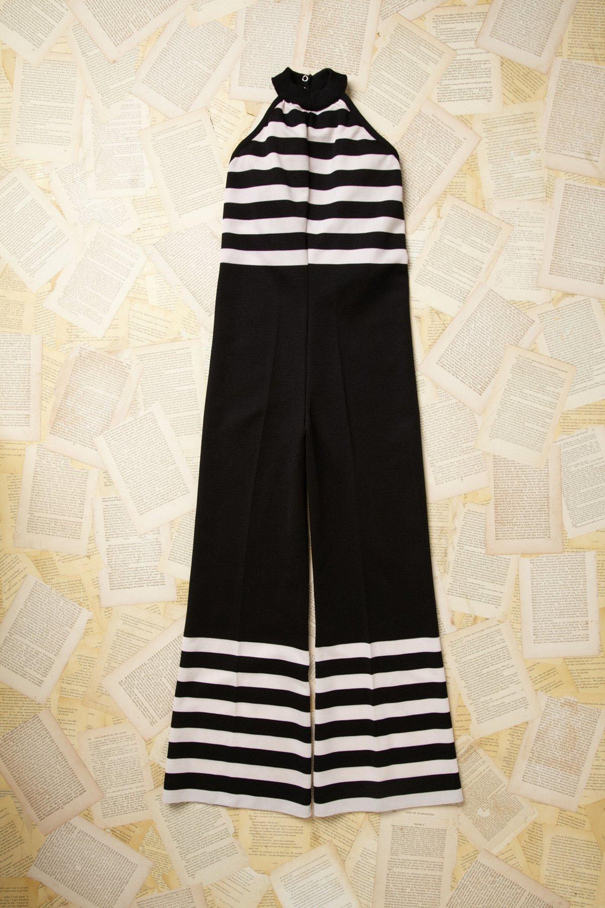 Vintage Striped Jumpsuit
