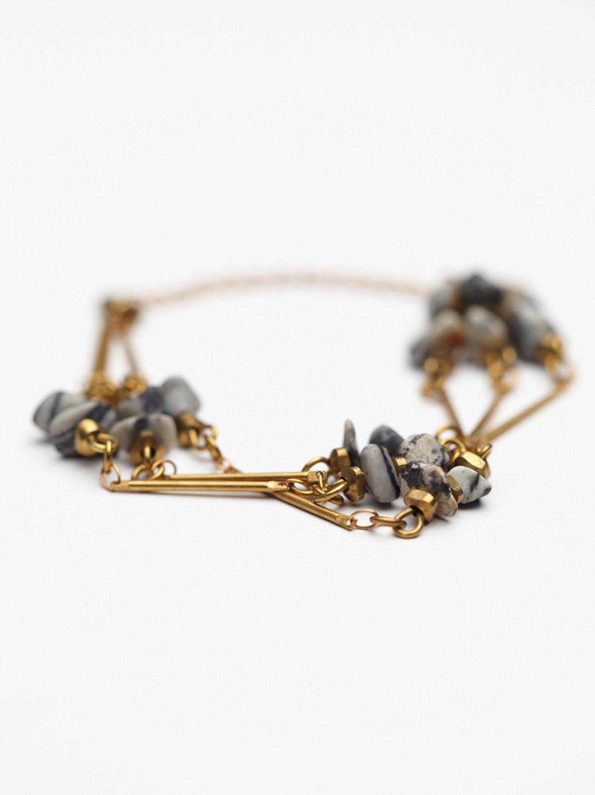 Triple Strand Stone Bracelet