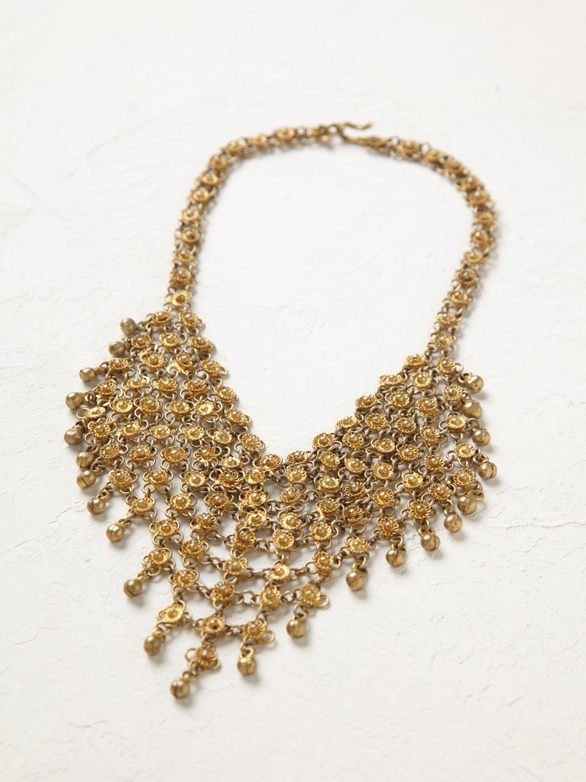 Vintage Woven Brass Ncklace