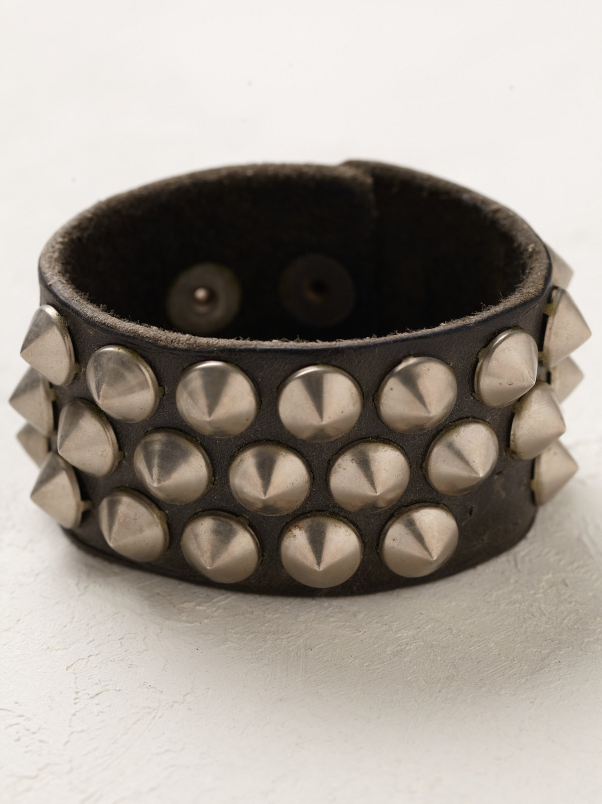 Vintage Spiked Leather Cuff
