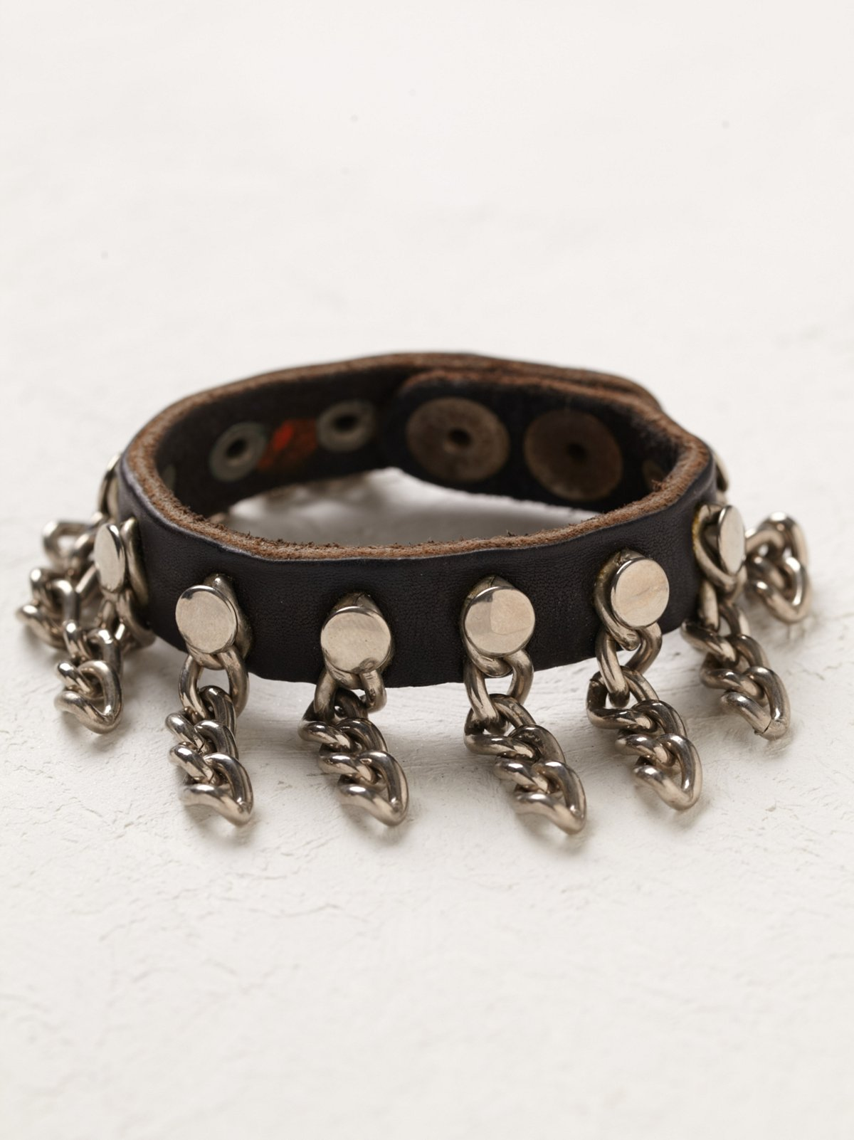Vintage Leather Chain Cuff