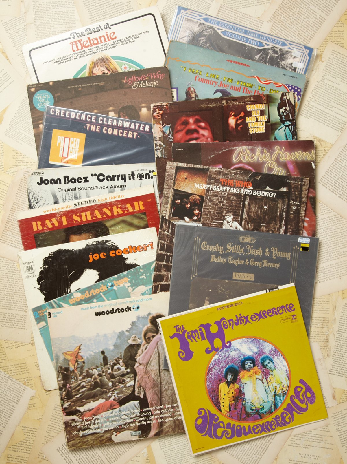 Vintage Collection of Records: Woodstock: Days 1 & 2