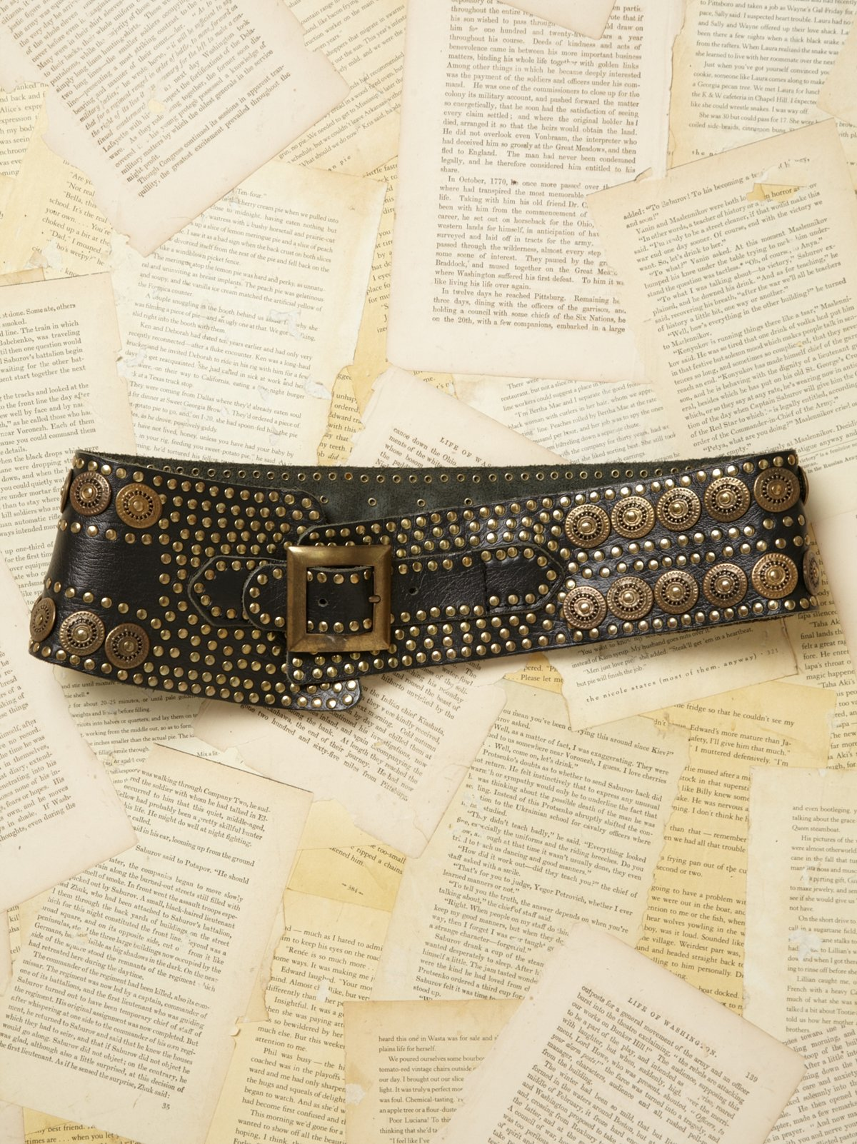 Vintage 1980s Leather Belt