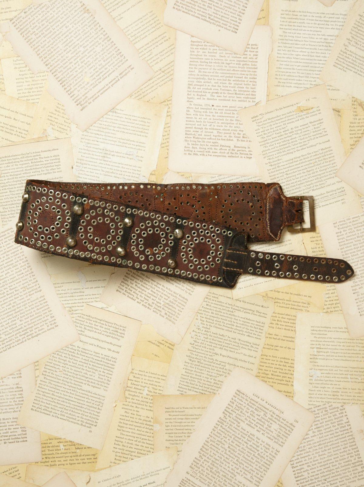 Vintage 1970s Leather Belt
