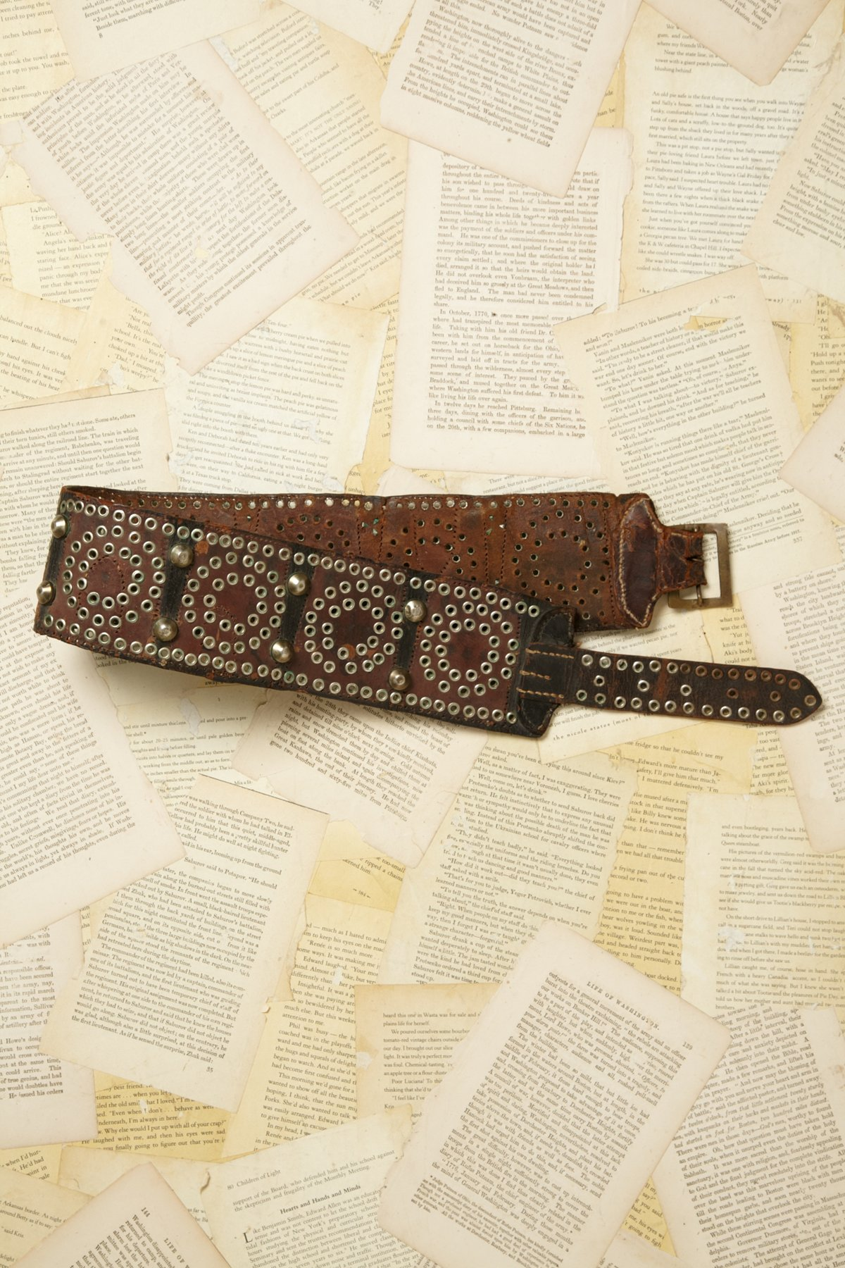 Vintage 1970s Leather Belt