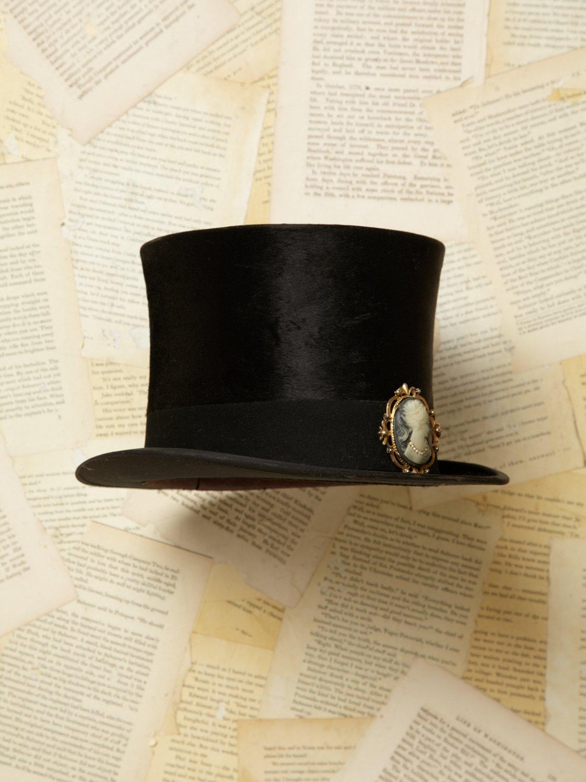 Vintage Velvet Top Hat