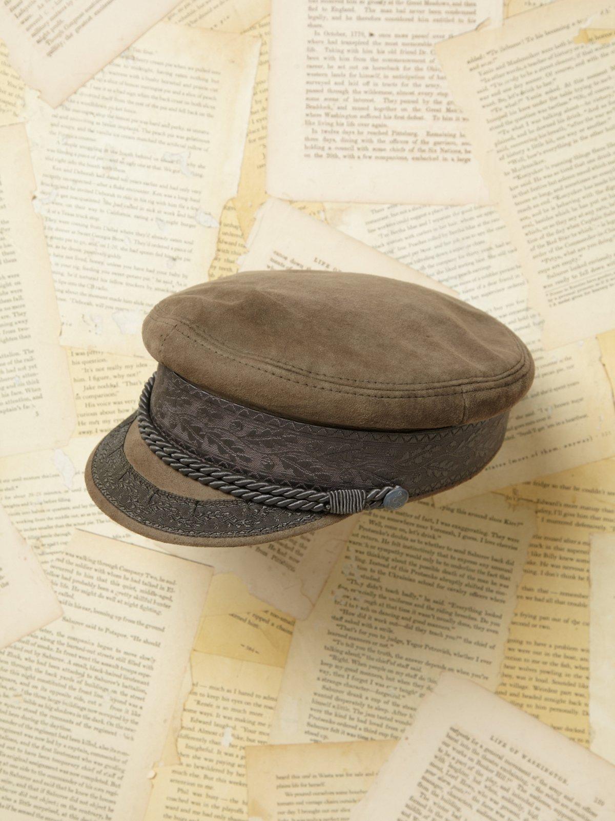 Vintage Suede Miltary Cap