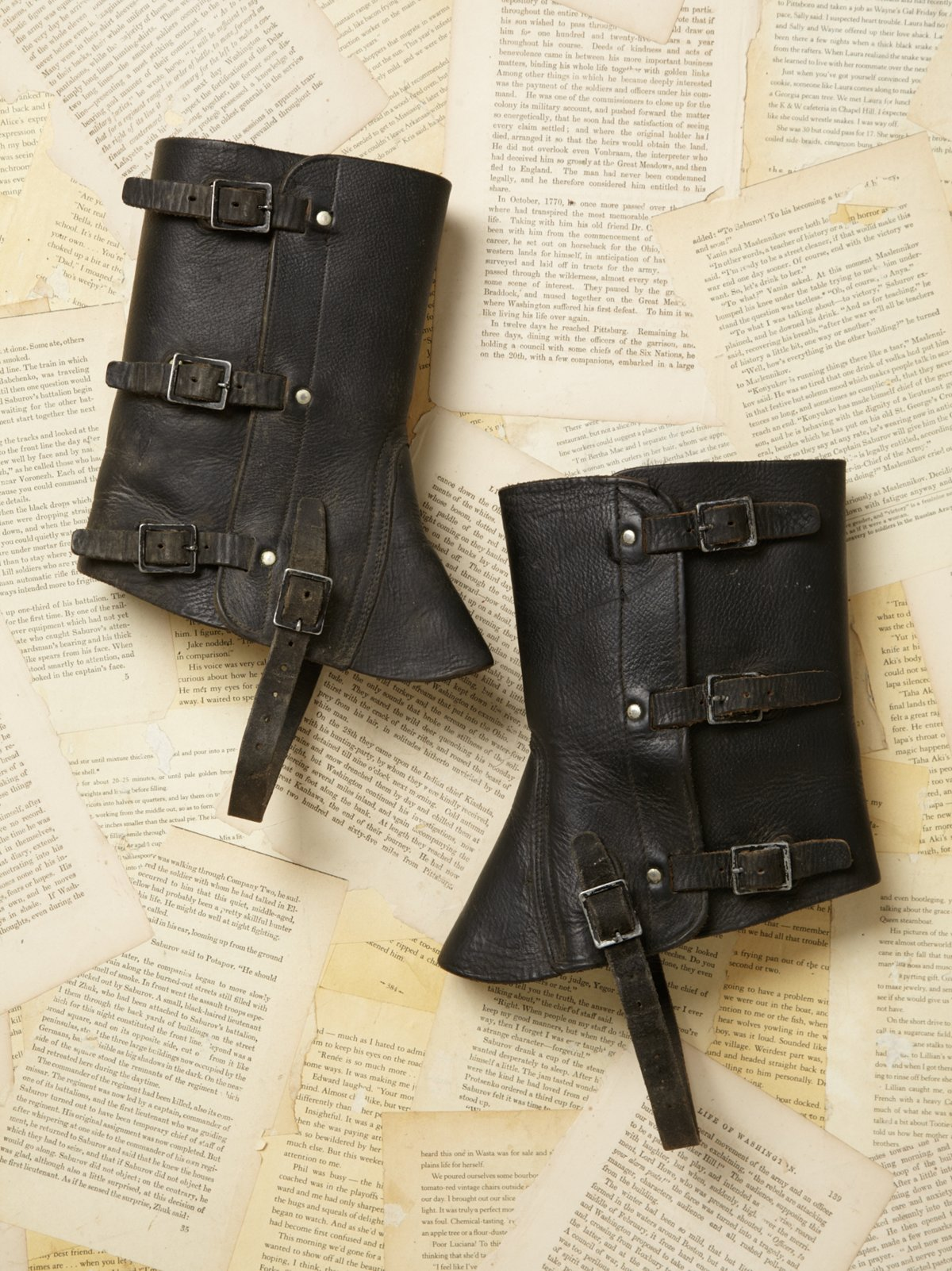Vintage 1980s Leather Boot Cover
