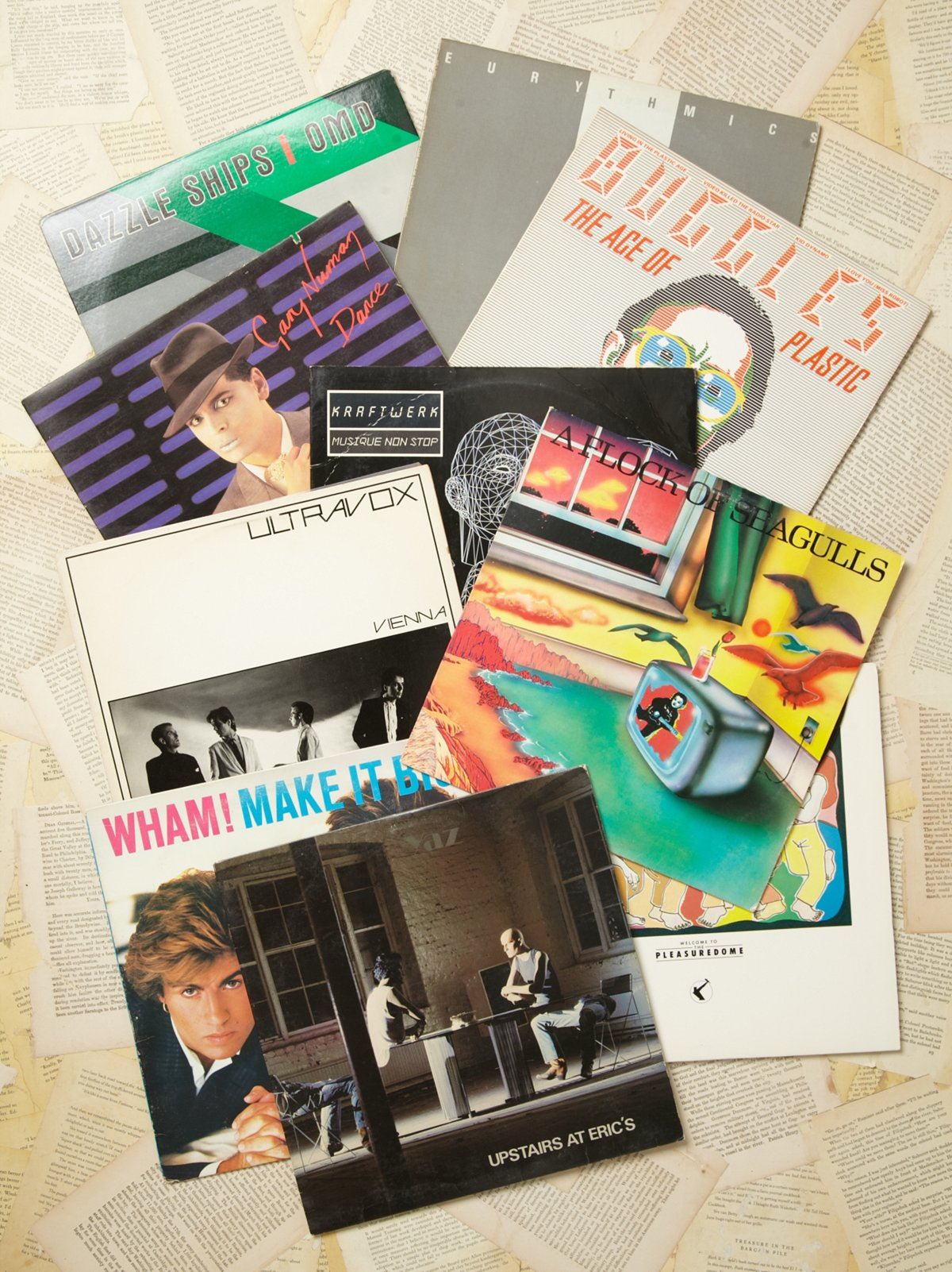 Vintage Collection of Records: 80's Electro Pop
