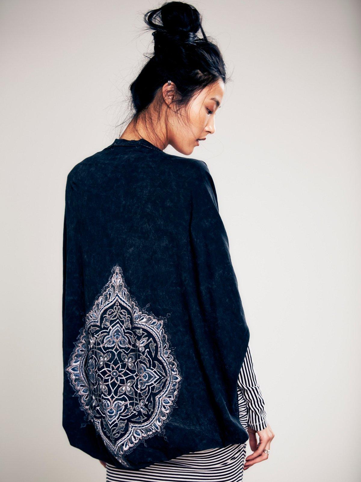 Graphic Jersey Kimono