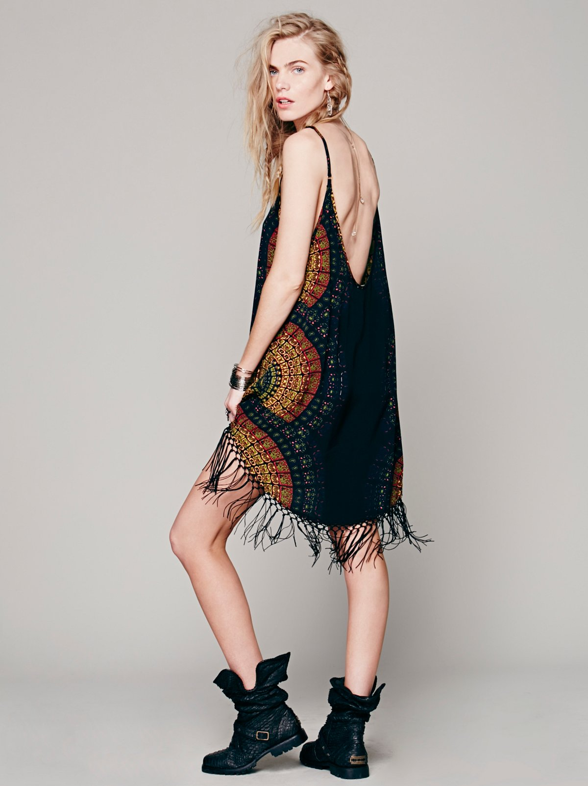 Edie Radial Fringe Dress