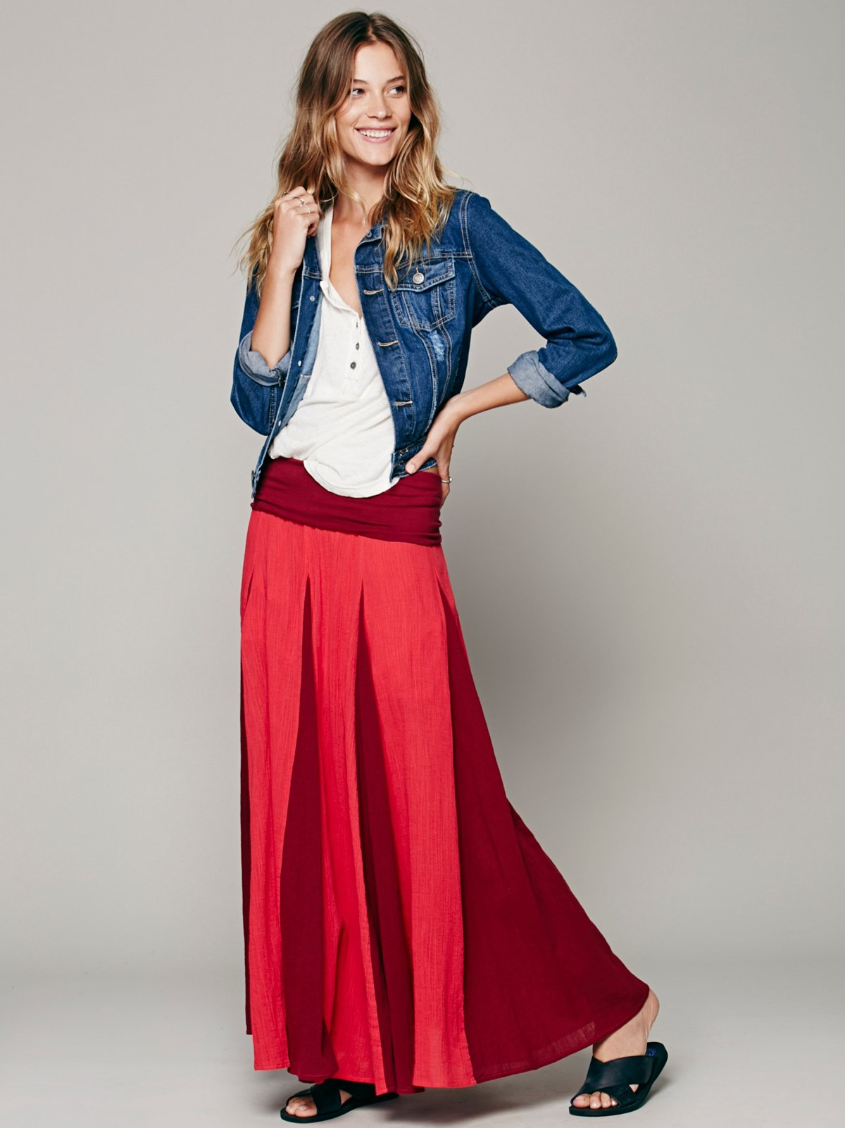 Peaced Out Maxi Skirt