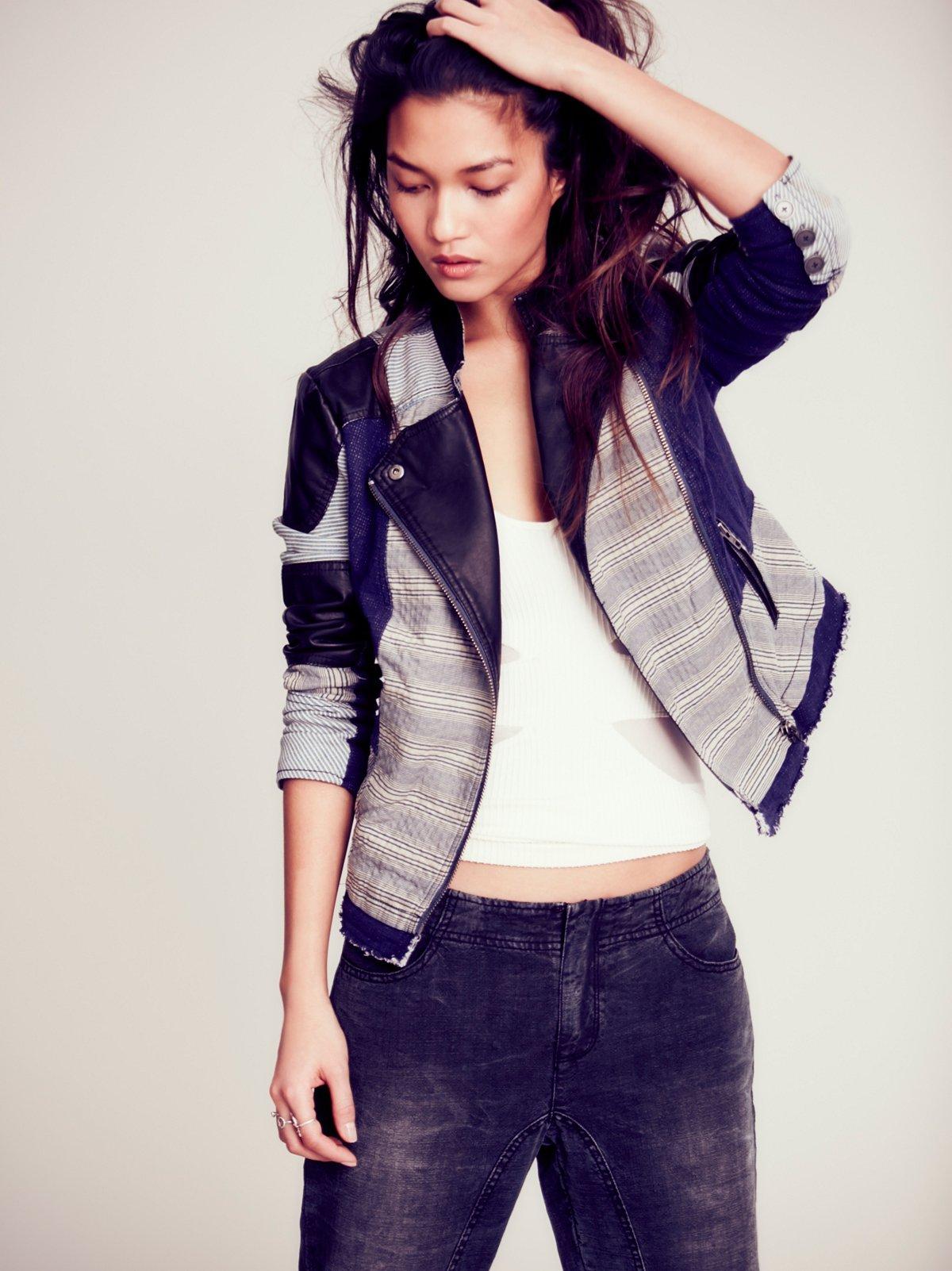 Favored Denim Patchwork Jacket