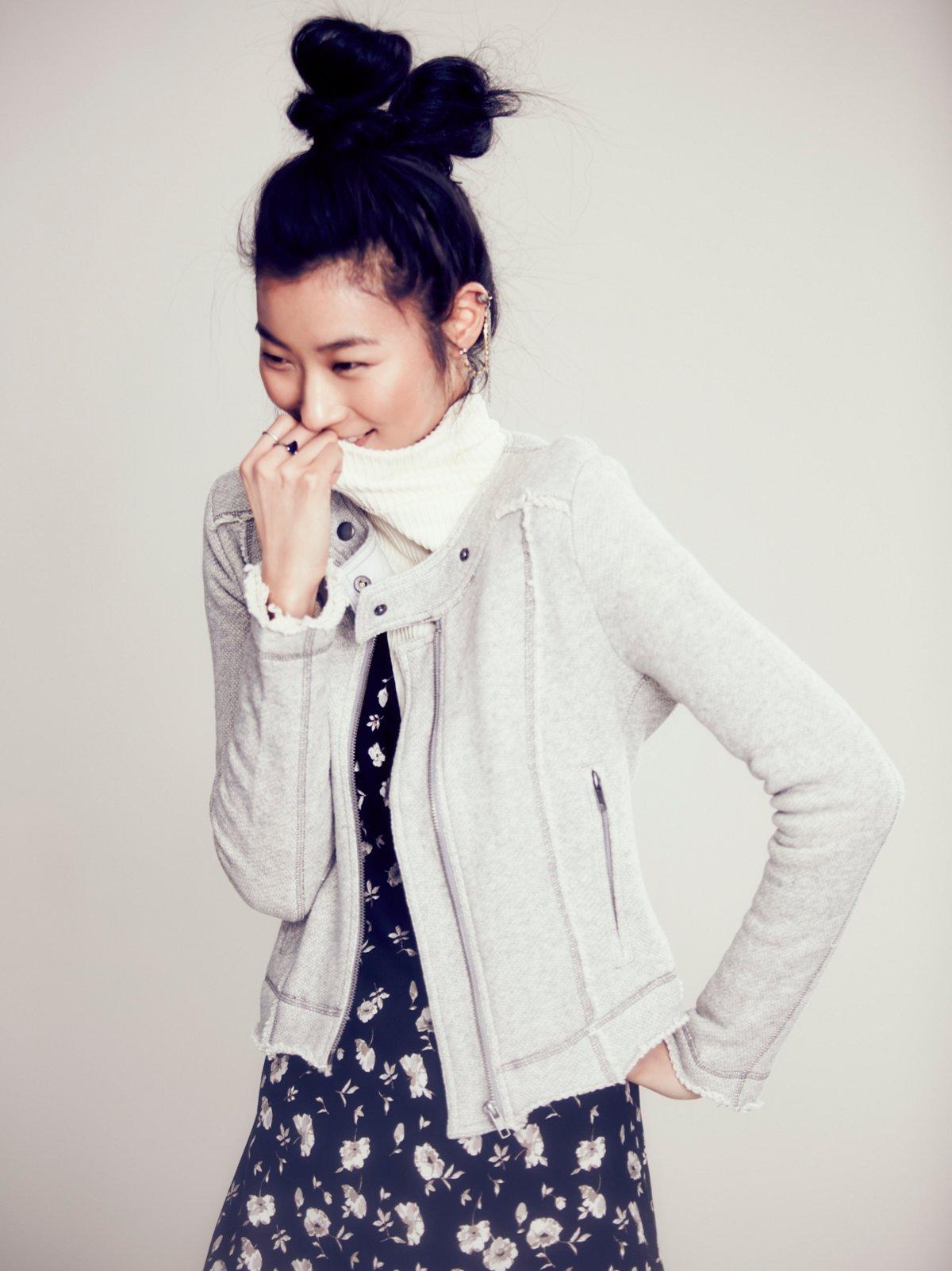 Shrunken Solid Knit Jacket