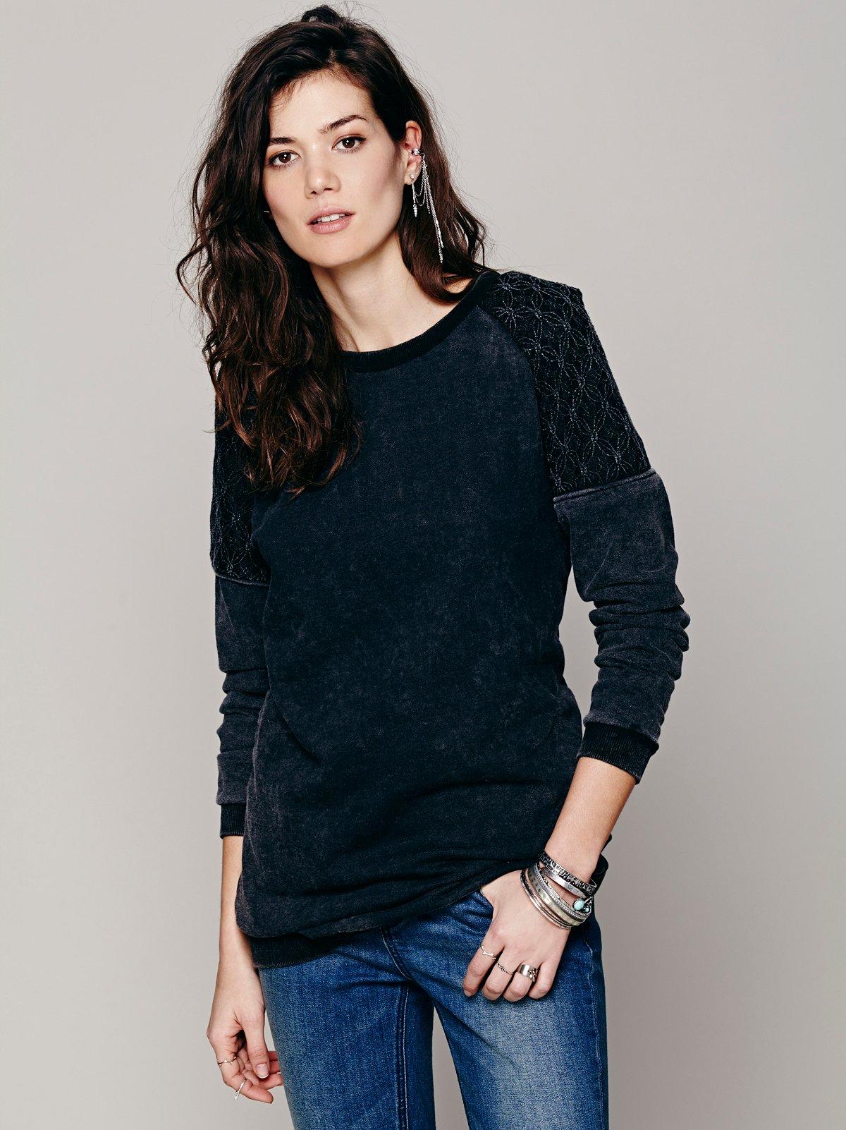Washed Lace Inset Tunic