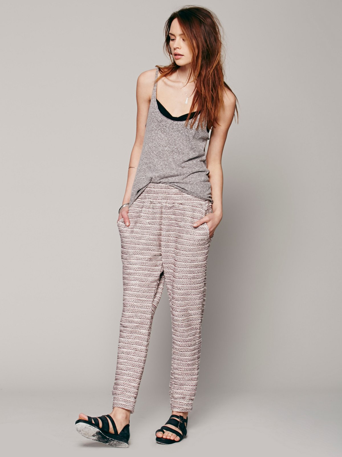 Marbled Knit Slouch Pant